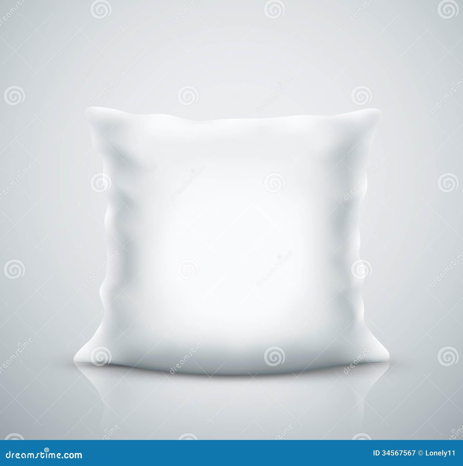 blank white square pillow stock vector illustration of light 34499278