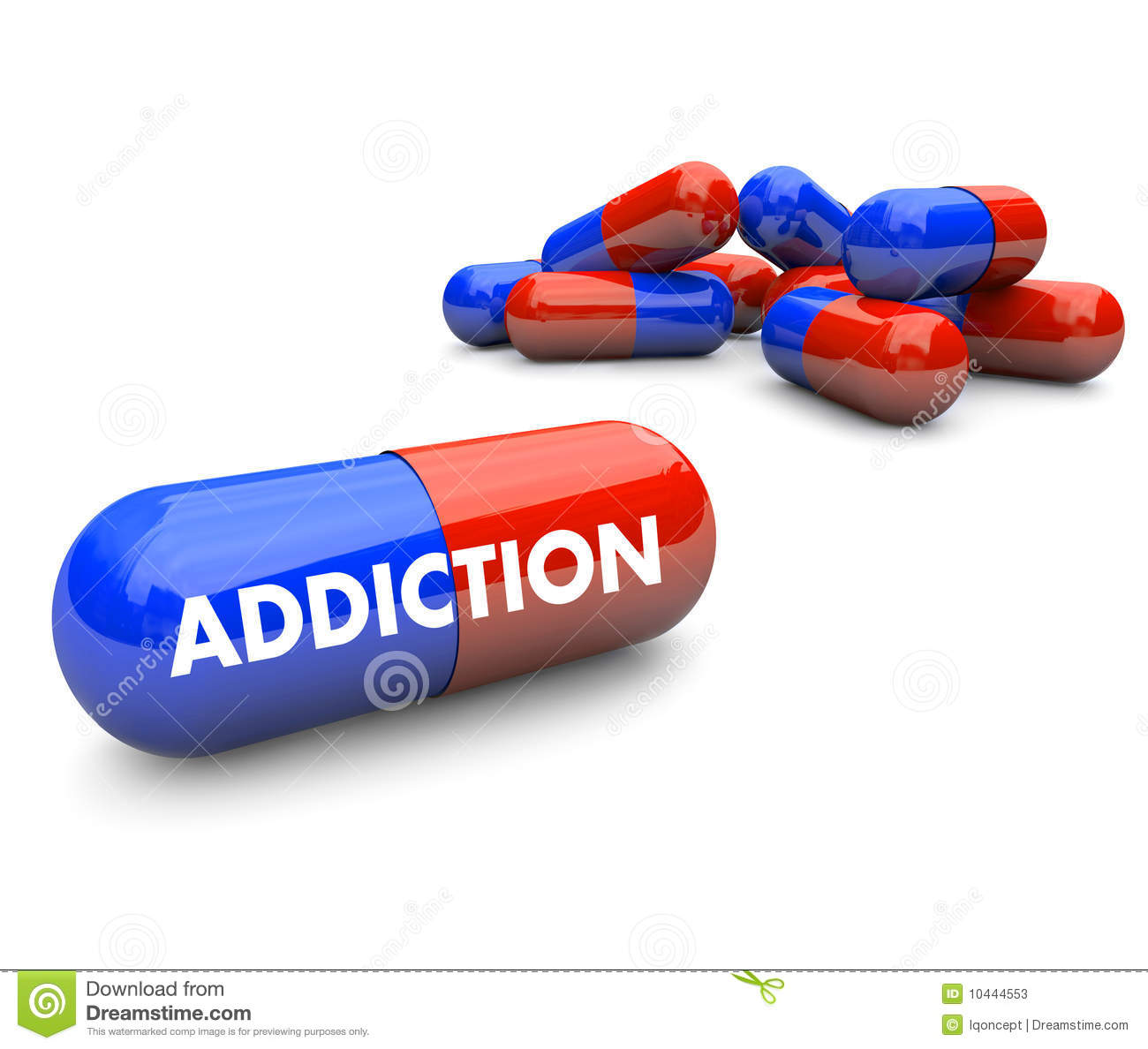 Pills Addiction Stock Illustration Illustration Of