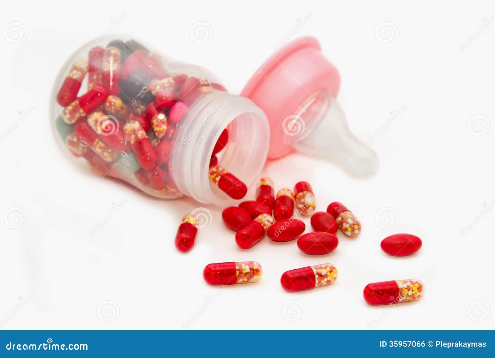 Pills With Bottle Stock Photography | CartoonDealer.com
