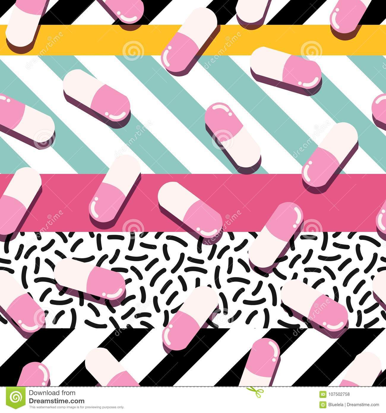 ce28abcb893 Pills And Capsules Seamless Pattern