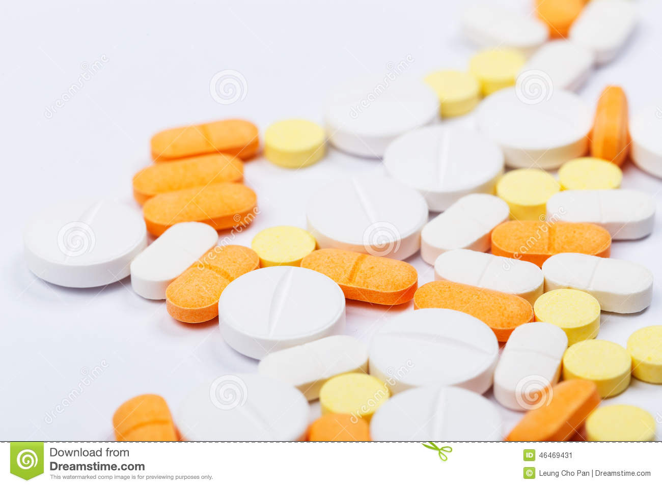 Orange viagra pill