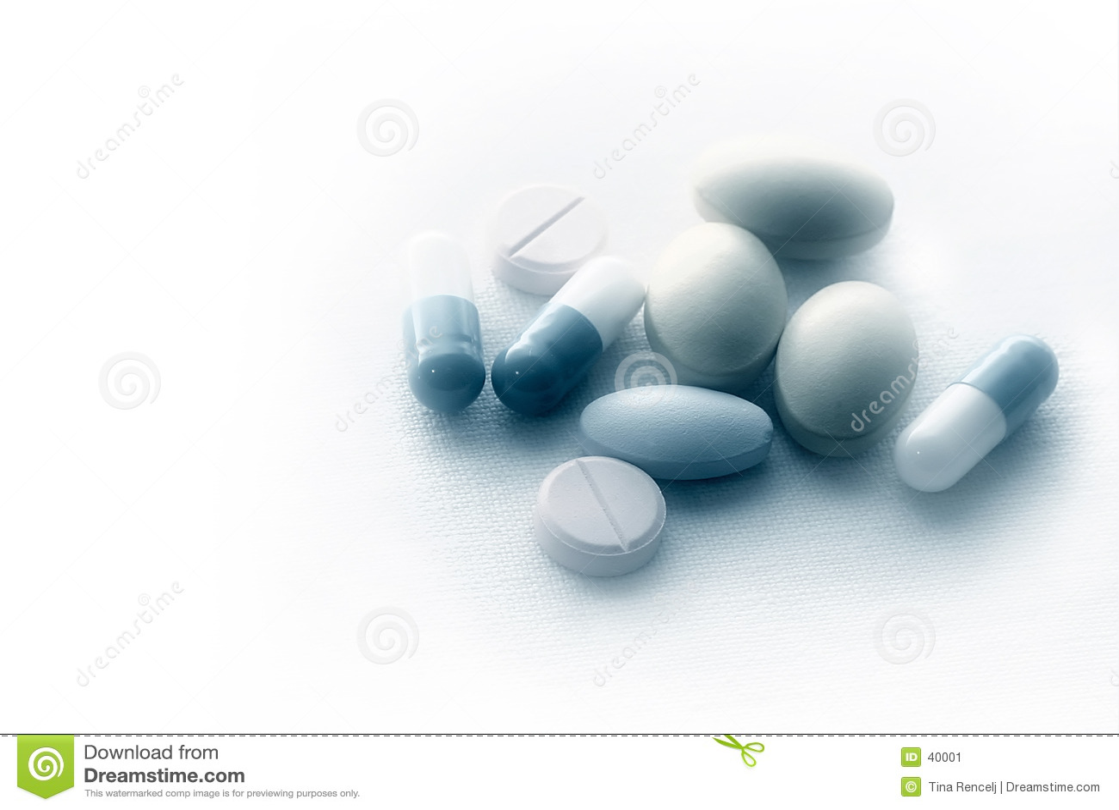 Pills on sterile cloth