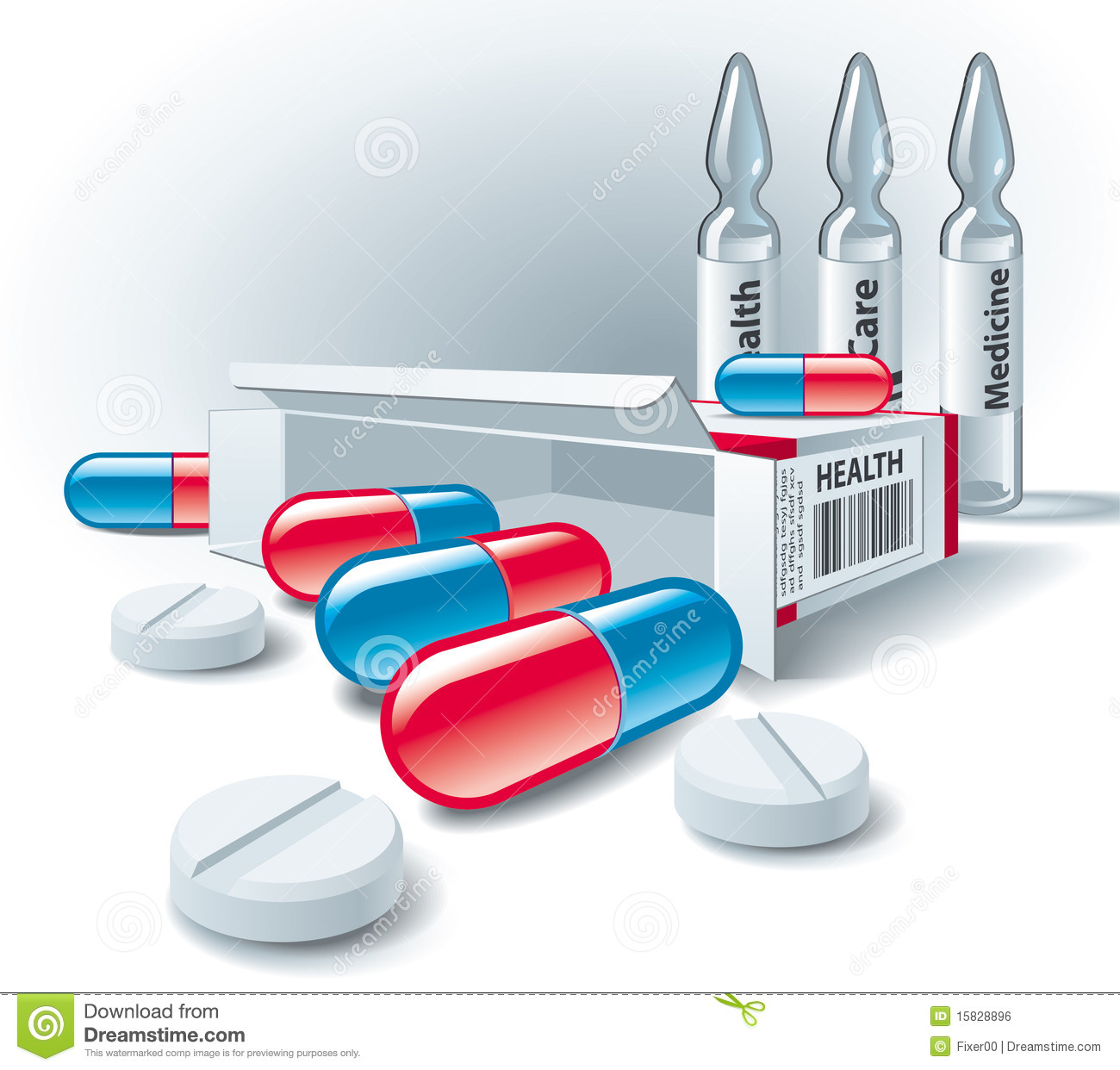 Pills, Tablets, Box And Ampoules. Stock Vector - Image ...