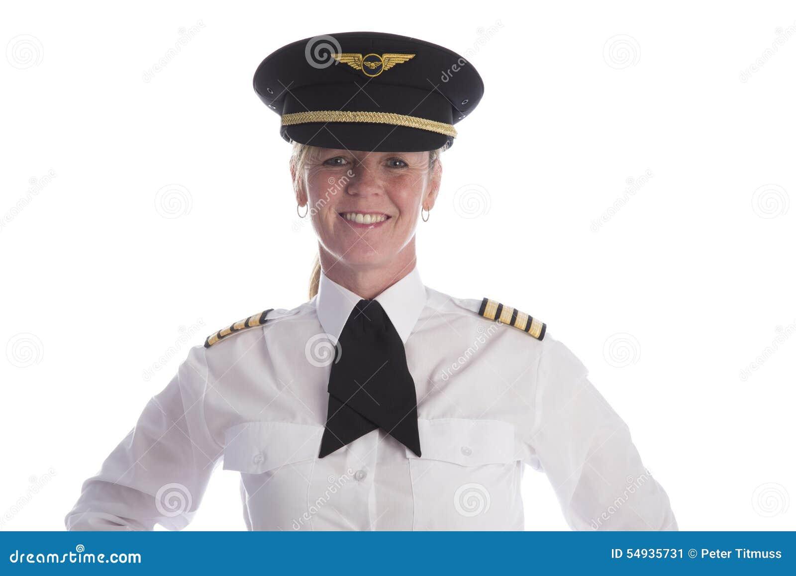 Pilot- bärande enhetlig hatt för kvinnlig