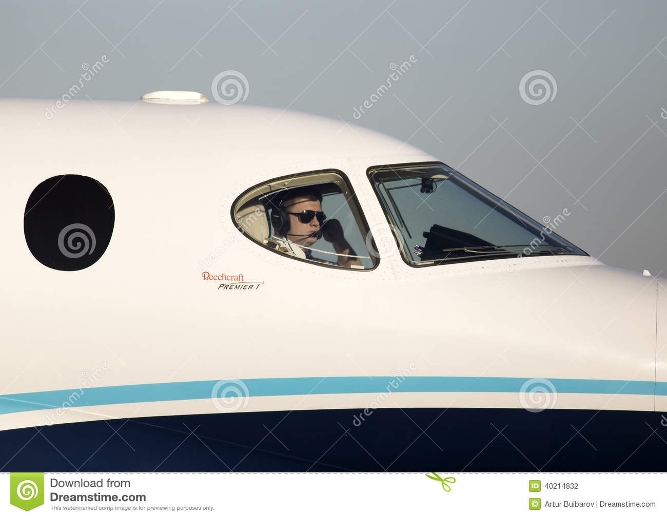 Pilot In The Cockpit Of The Private Jet Editorial Photography  Image 40214832