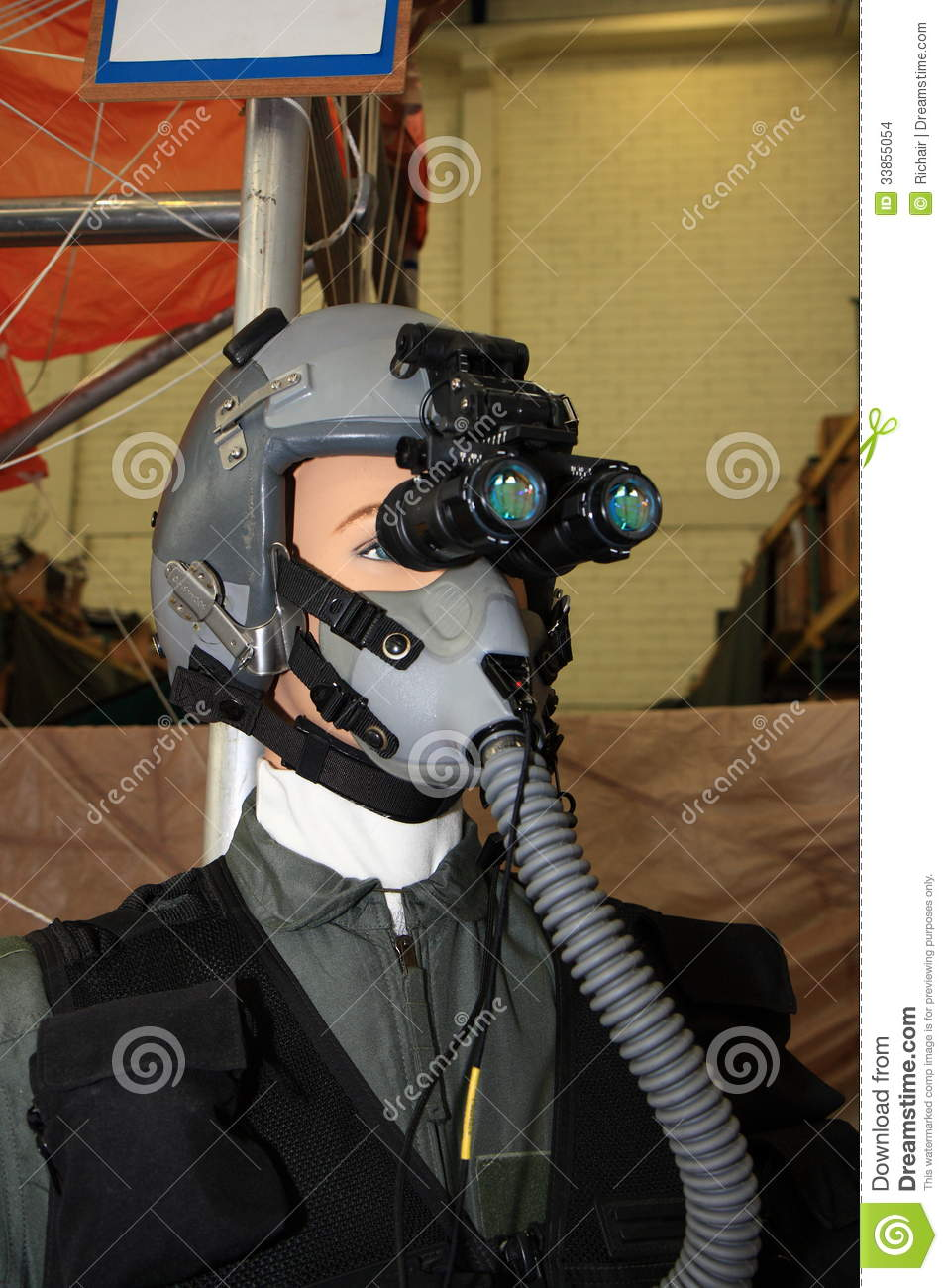 Pilot With Night Vision Goggles Stock Images Image 33855054