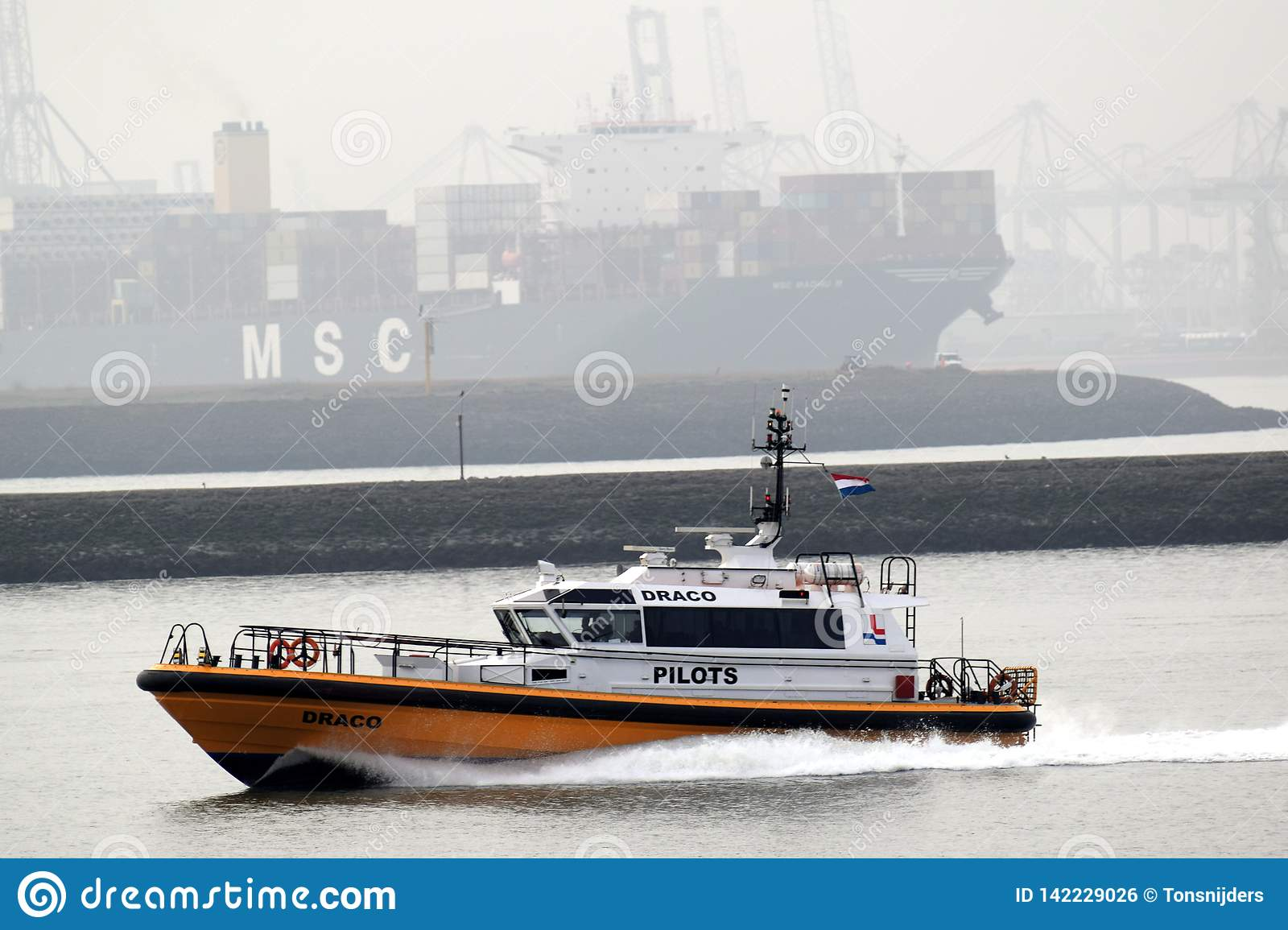 Pilot ships for guiding incoming and outgoing ships