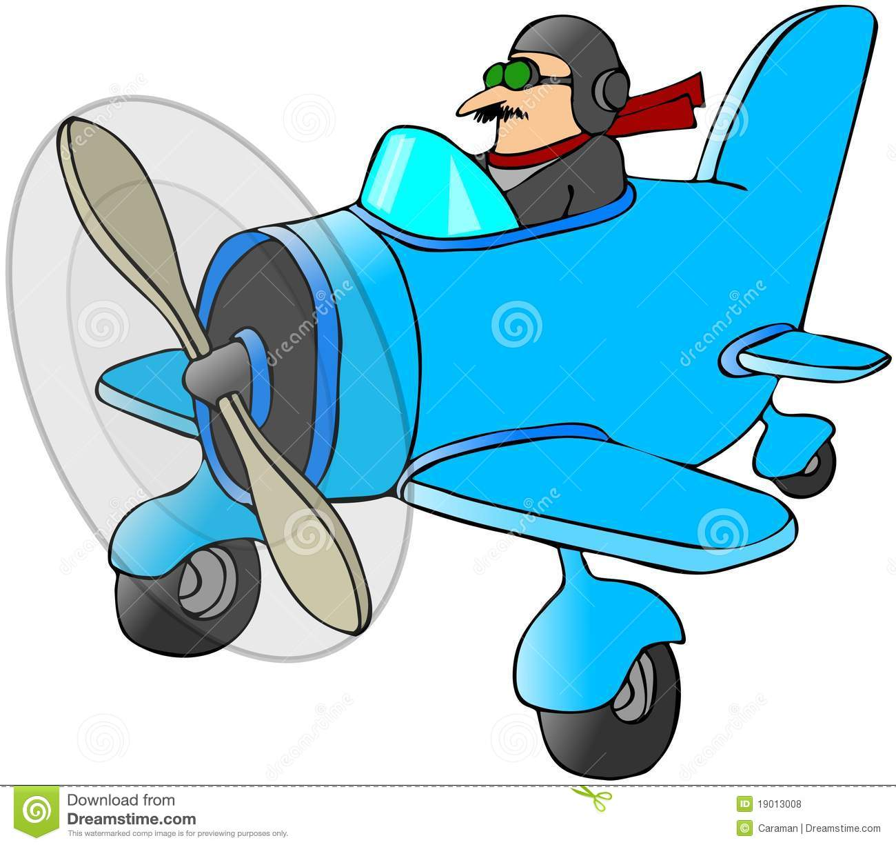 Pilot In A Small Plane Royalty Free Stock Photos - Image: 19013008
