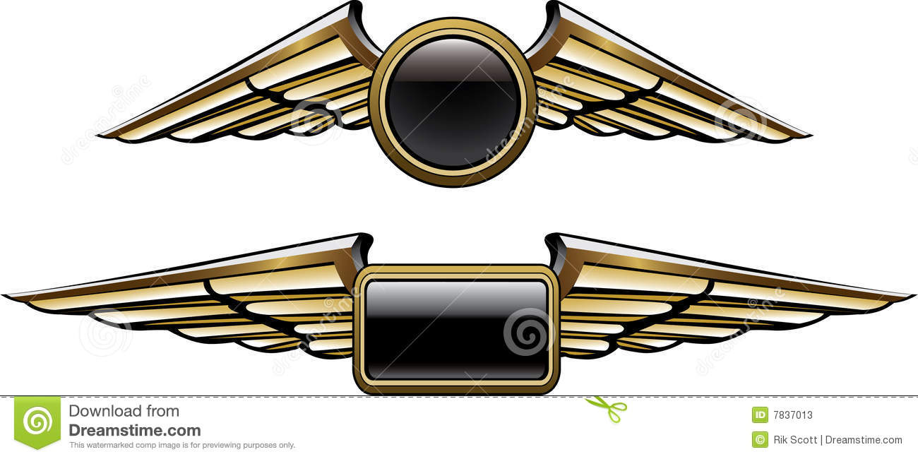 pilot wings stock vector illustration of square black 7837013