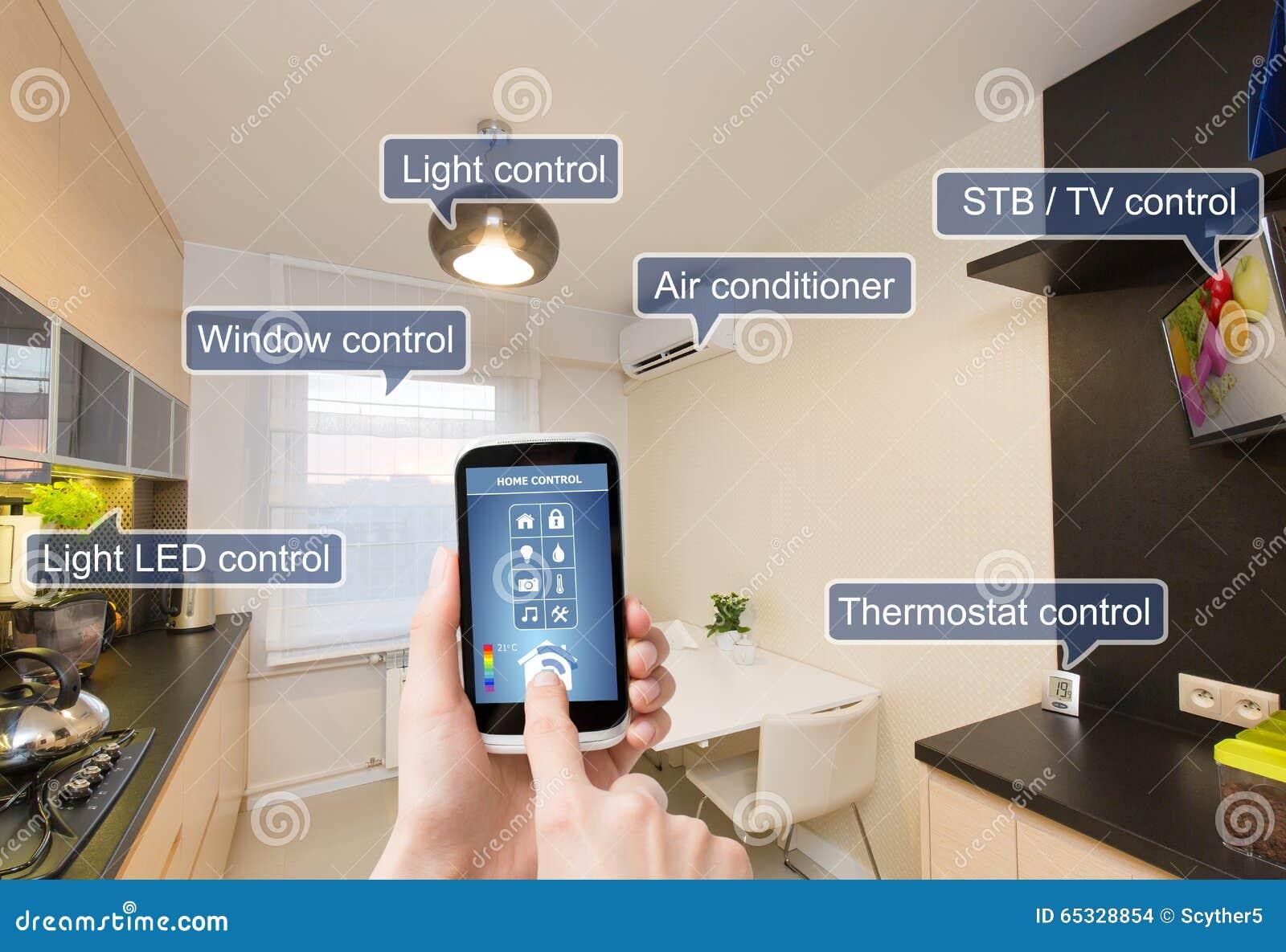 Pilota domowy system kontrolny na mądrze telefonie