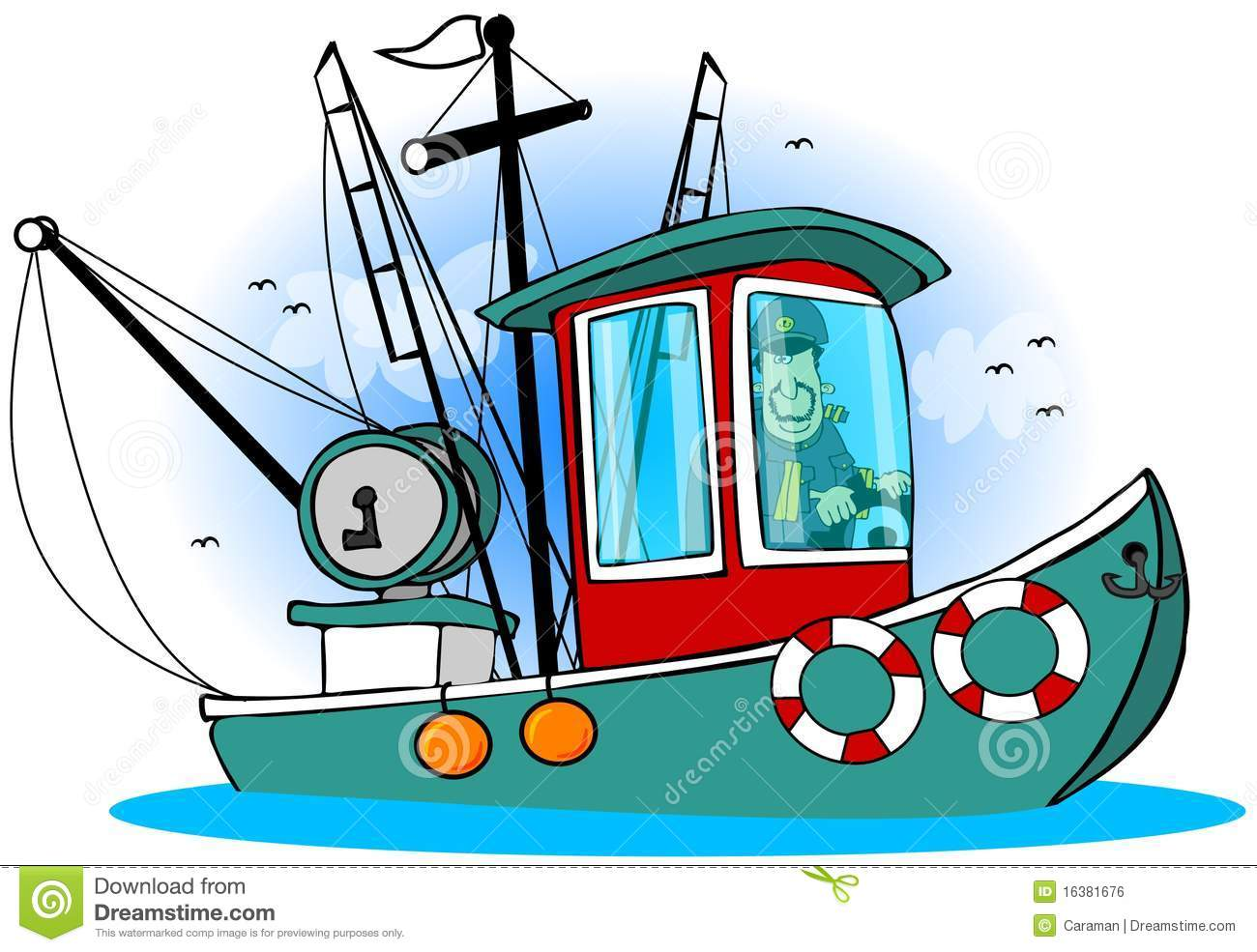 Pilote On His Boat