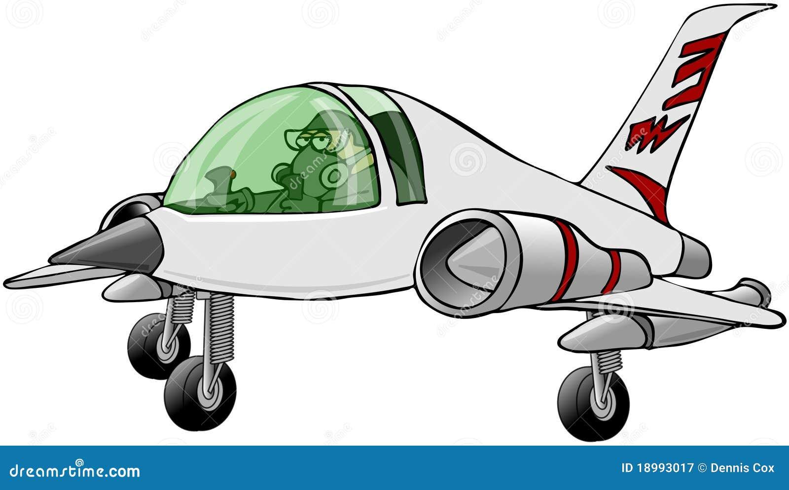 Pilote volar un jet