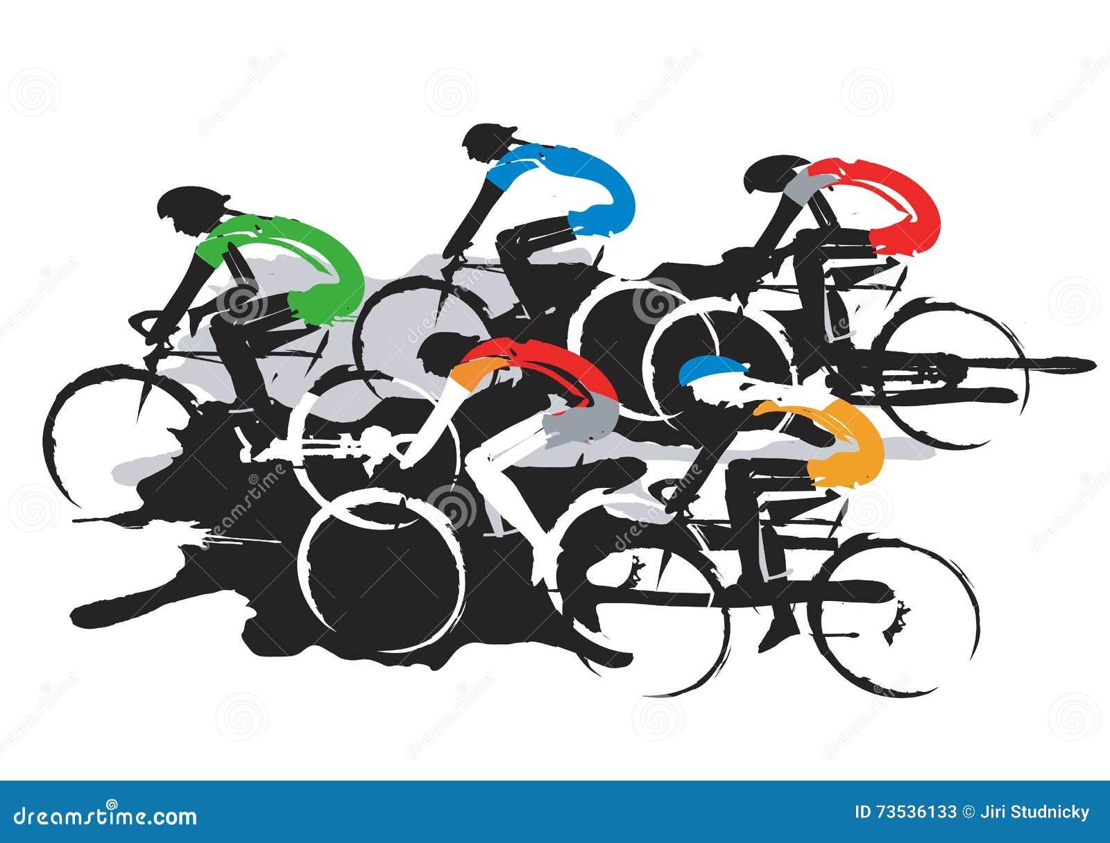 pilotos de ciclismo da estrada ilustração do vetor ilustração de