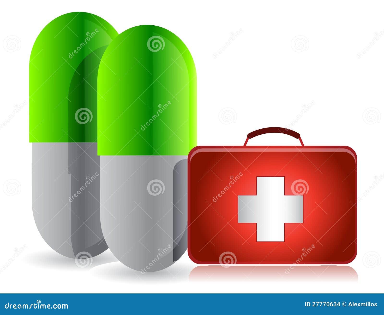 Pilules et trousse médicale