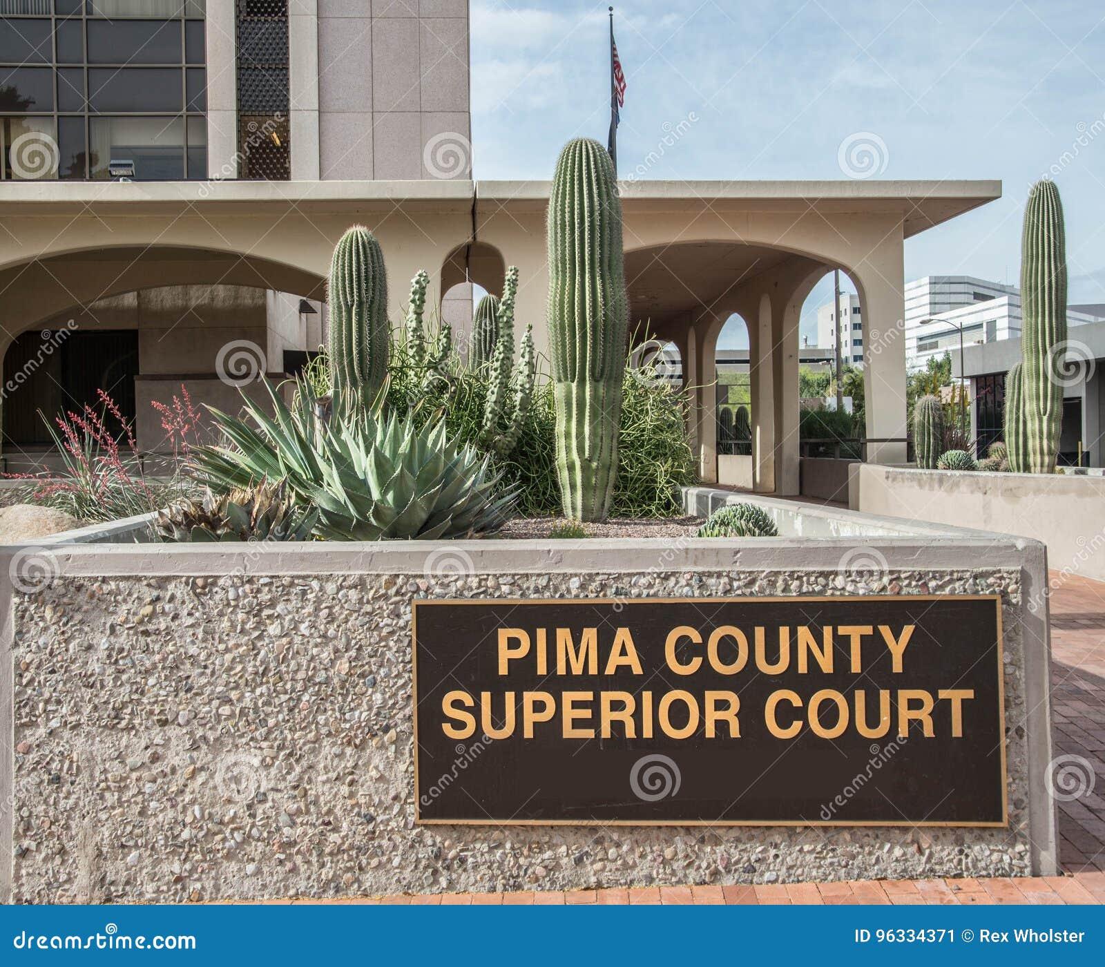 Pima County Superior Court In Tucson, Arizona Editorial Photo