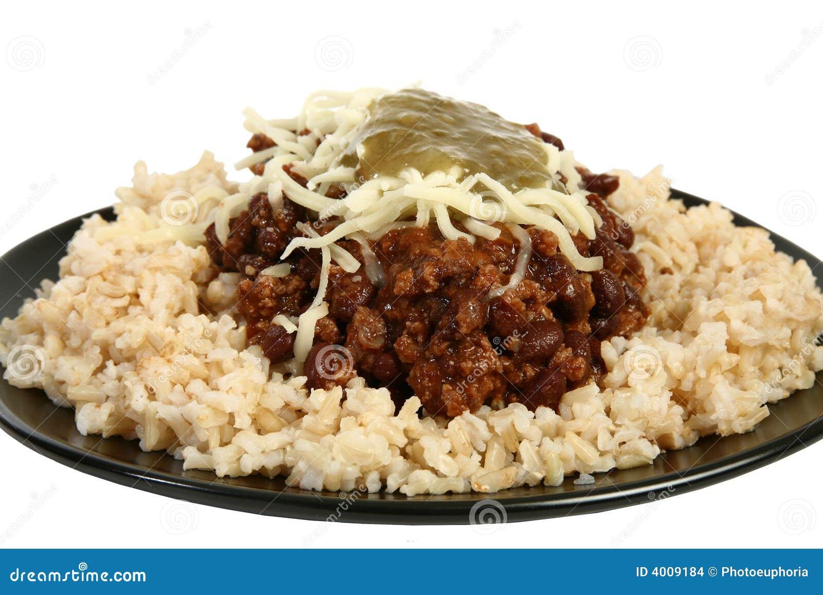 Pimentão e arroz orgânicos