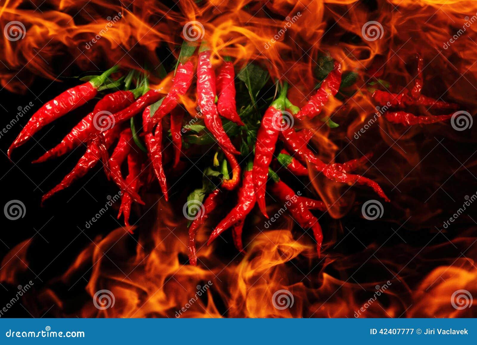 Pimentão nas chamas