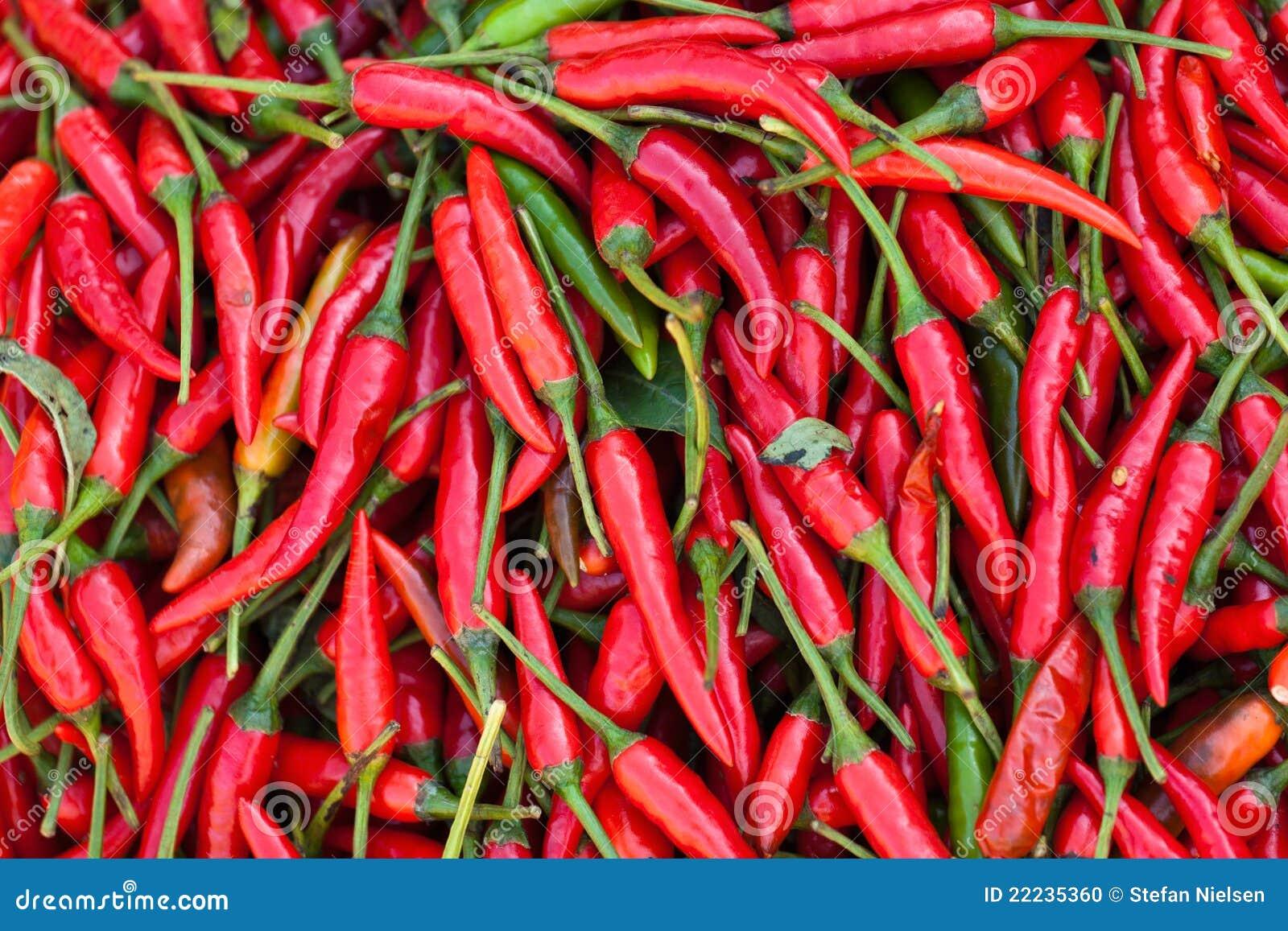 Pimentões vermelhos