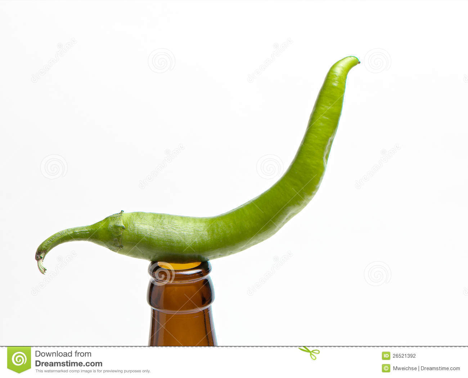 Pimentas de pimentão verdes