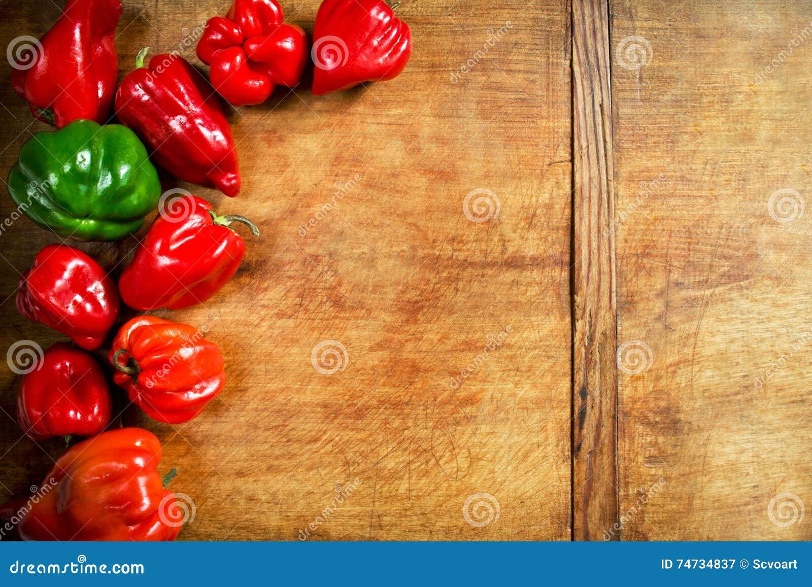 Pimentas de sino coloridas