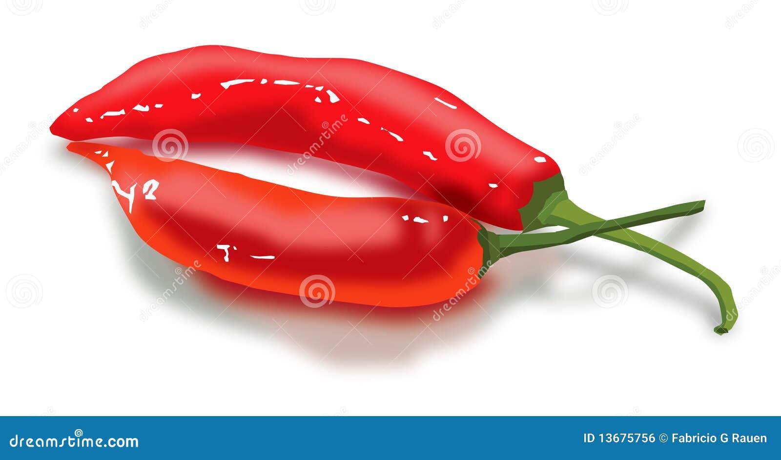 Pimentas vermelhas como os bordos