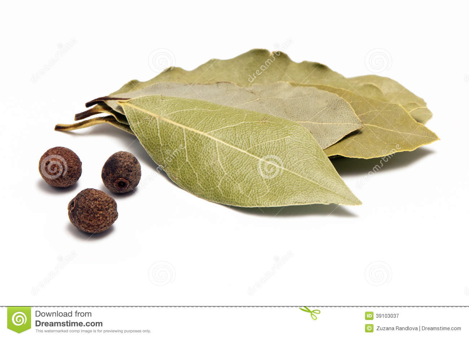 Pimentbes en laurierblad