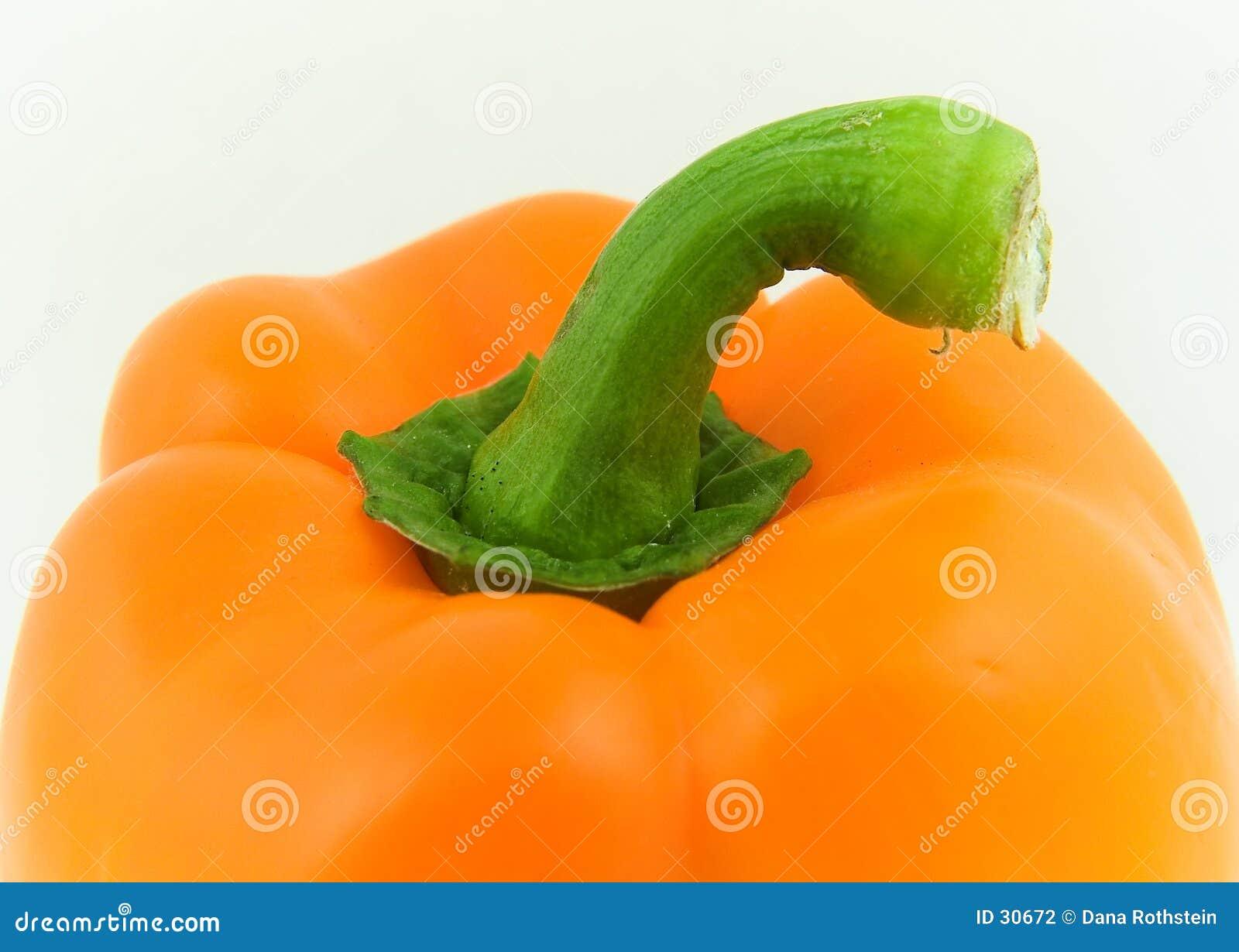 Download Pimienta anaranjada foto de archivo. Imagen de cubo, cocina - 30672