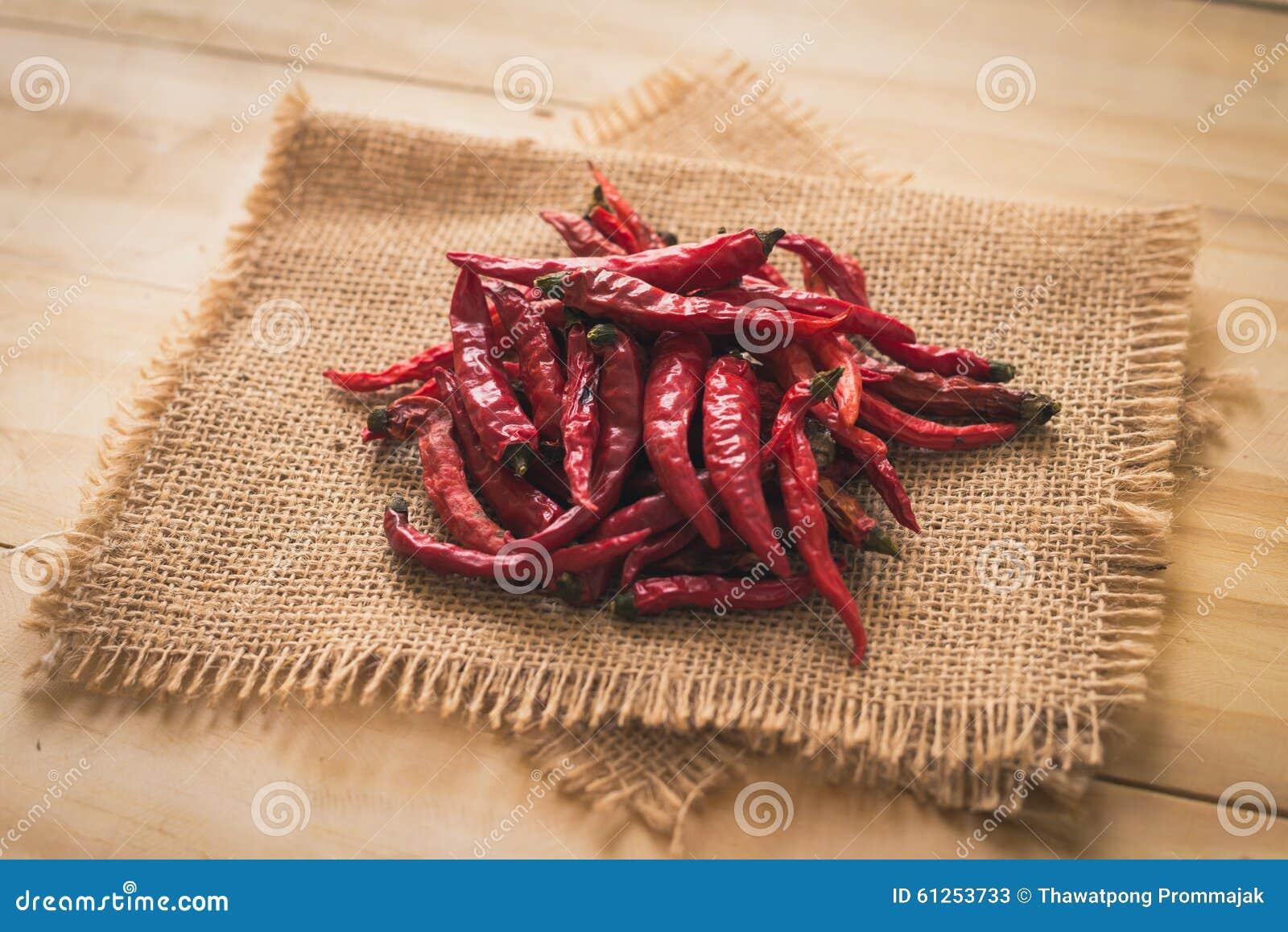 Pimienta de chiles candente secada de los chiles