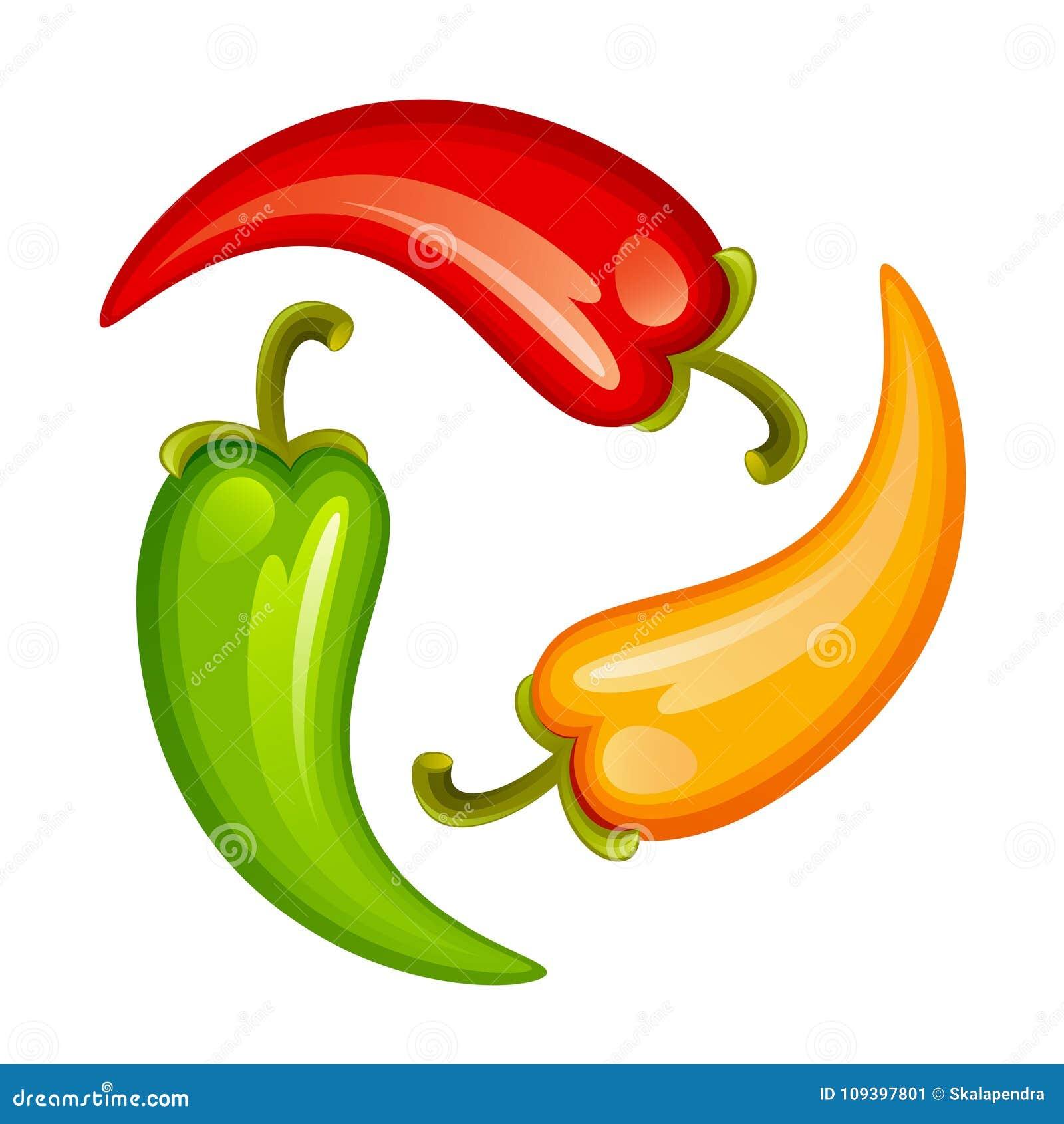 Pimientas calientes coloridas