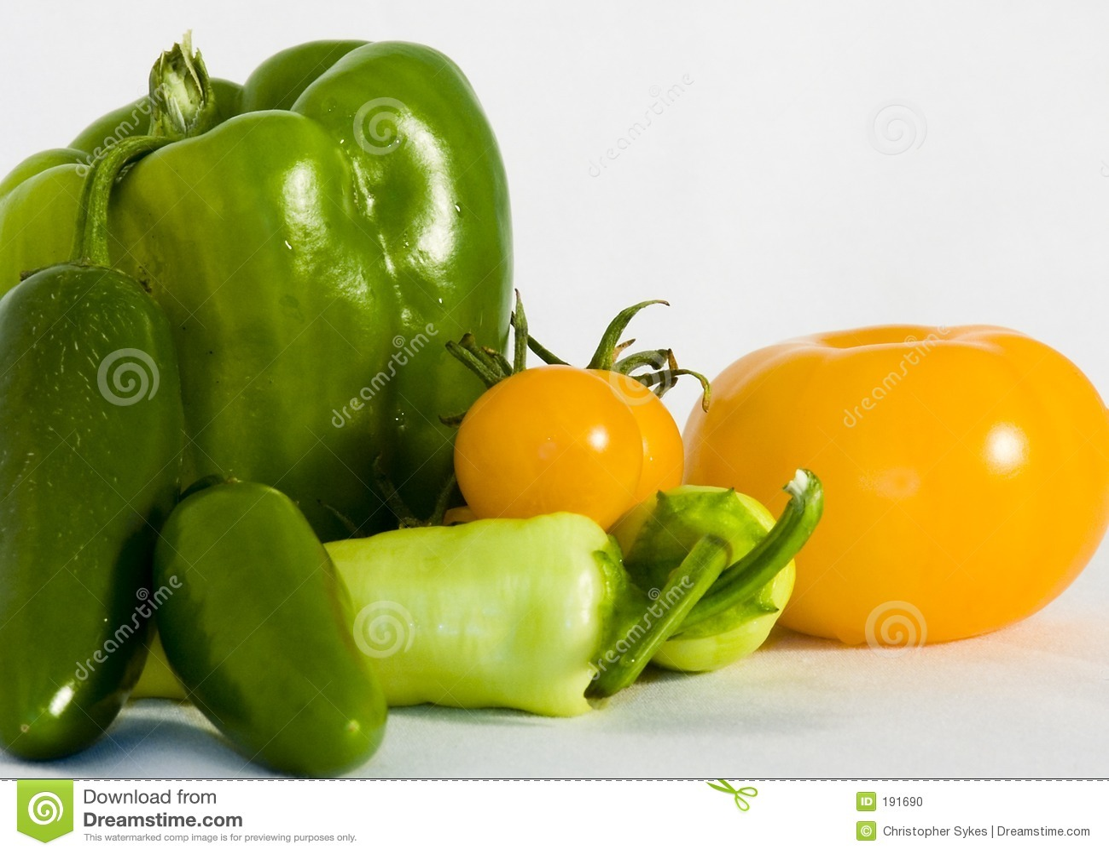 Pimientas y tomates