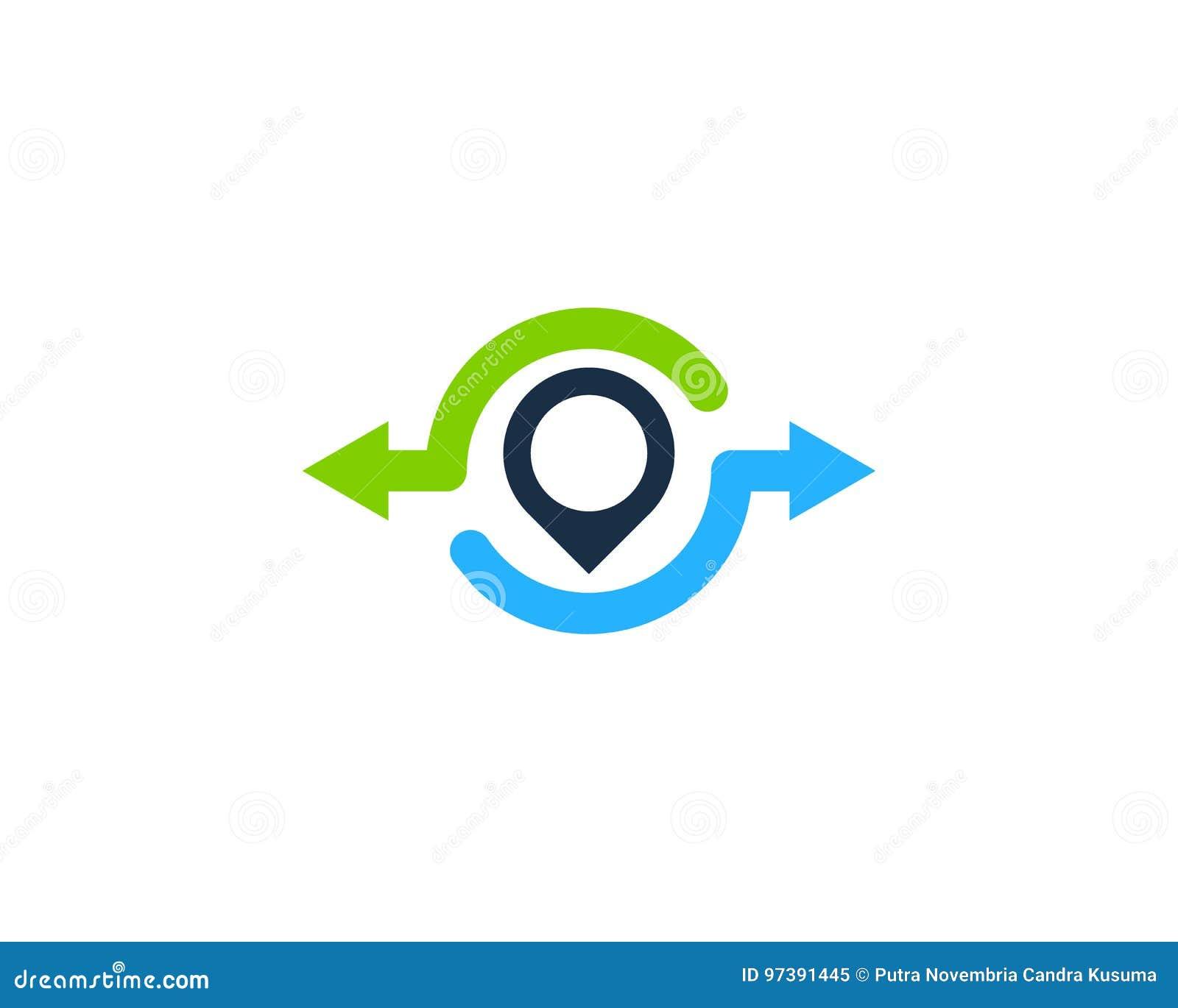 Pin地点份额象商标设计元素