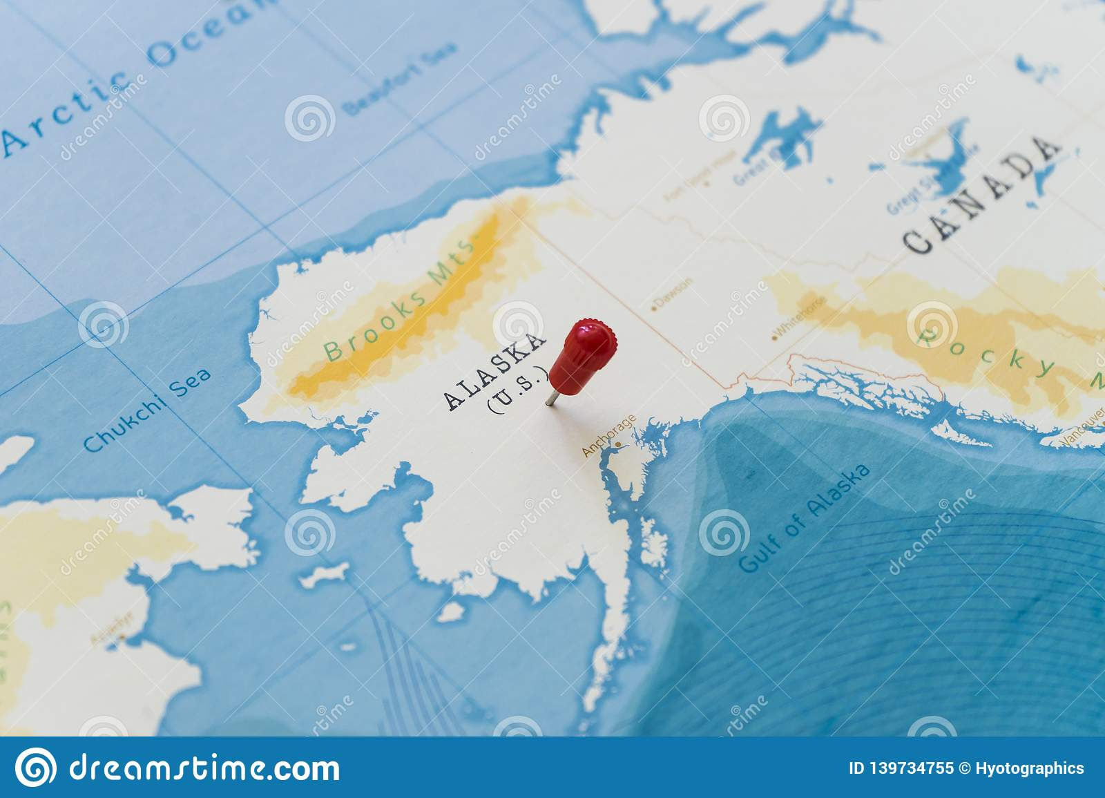 Picture of: A Pin On Alaska United States In The World Map Stock Image Image Of Location Global 139734755
