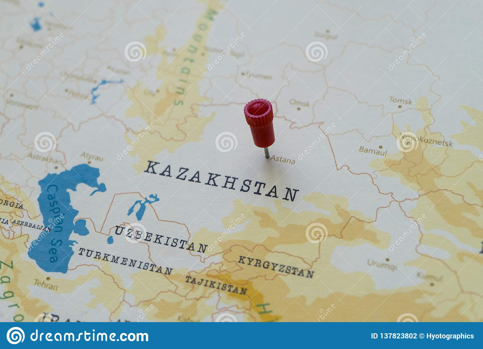 A Pin On Astana Kazakhstan In The World Map Stock Photo Image Of