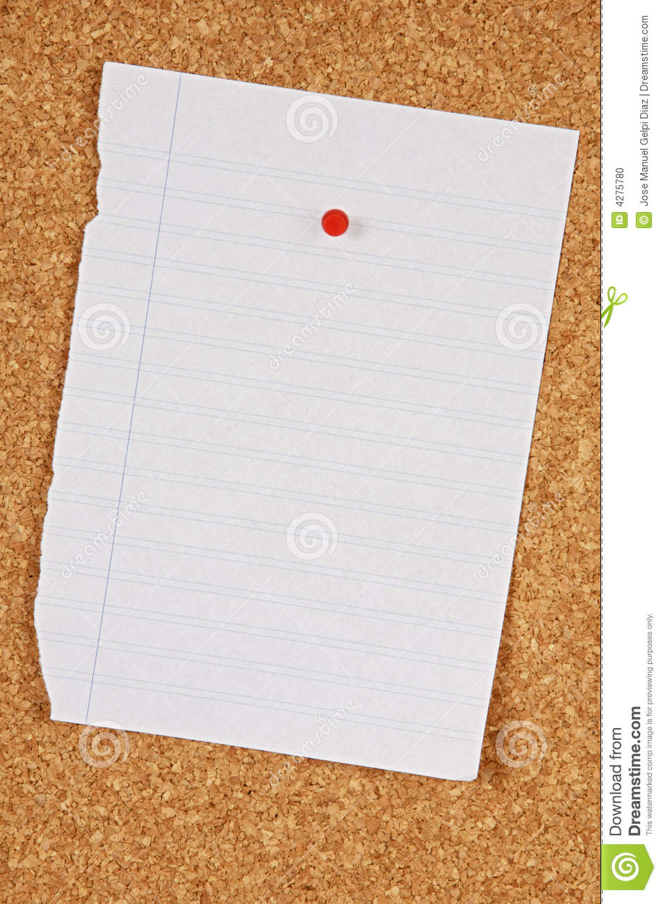 Pin Board Stock Photo Image Of Announcement Isolated
