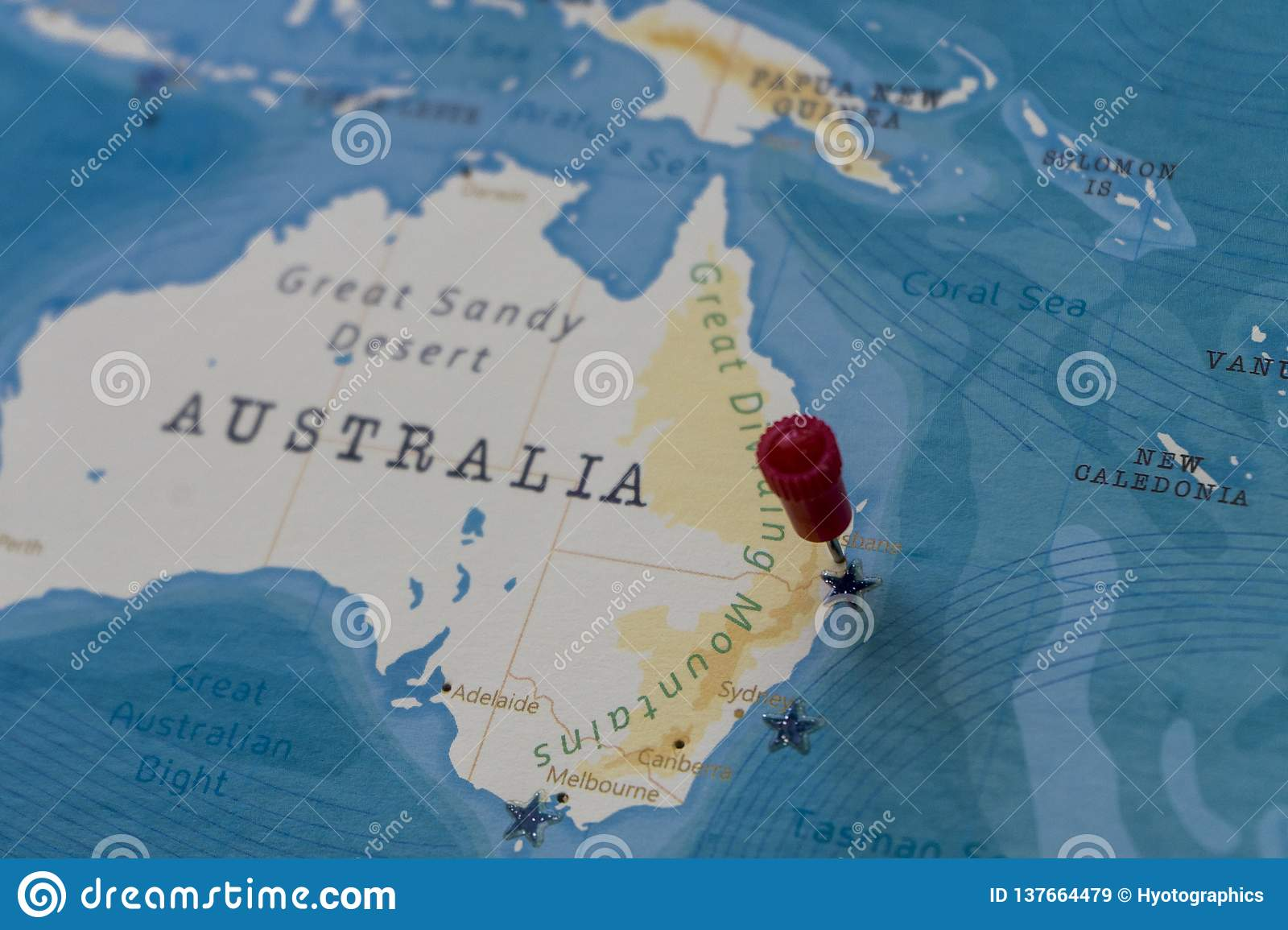 Australia Underwater Map.A Pin On Brisbane Australia In The World Map Stock Image Image Of