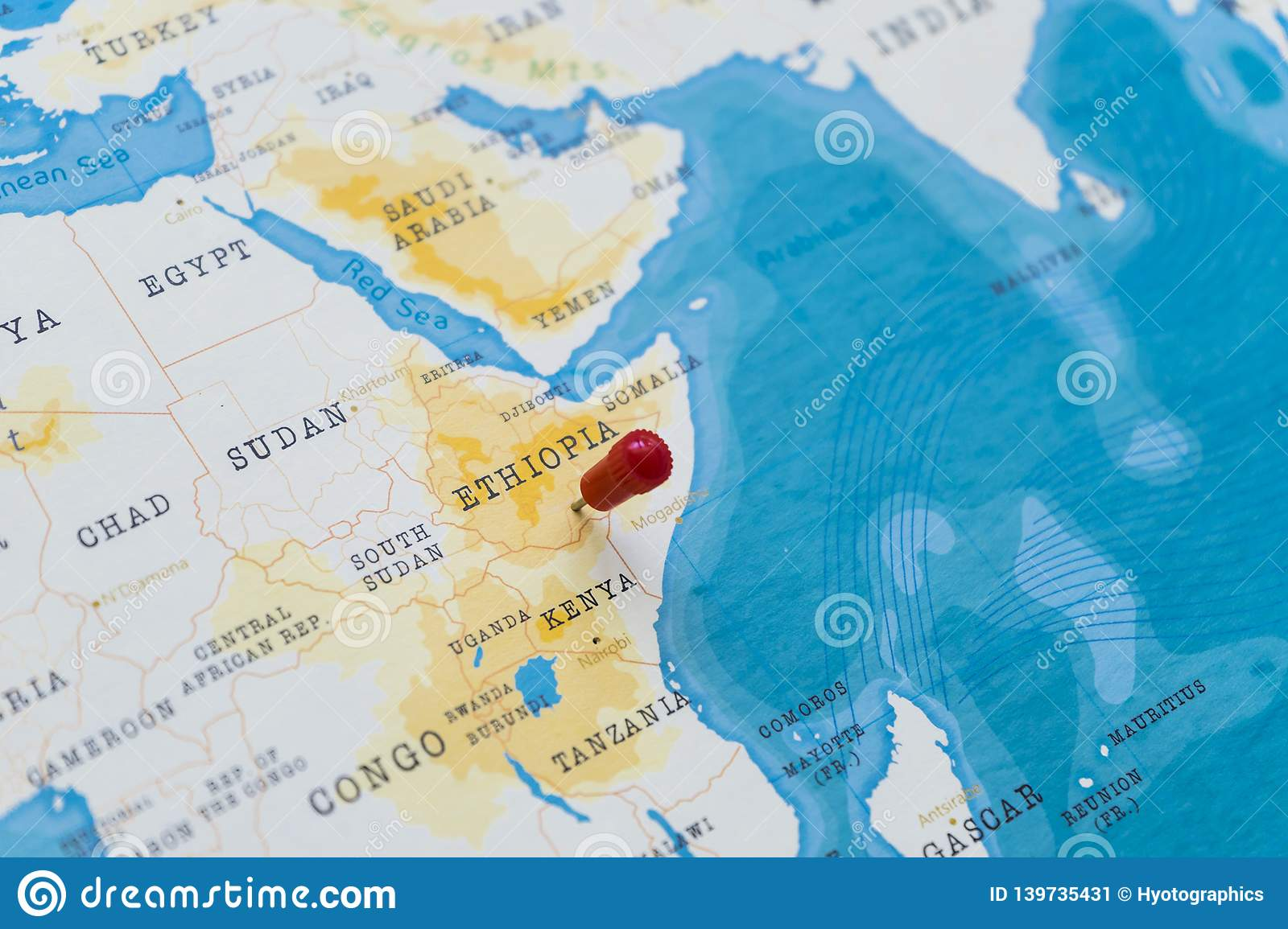 Picture of: A Pin On Ethiopia In The World Map Stock Image Image Of Itinerary Atlas 139735431