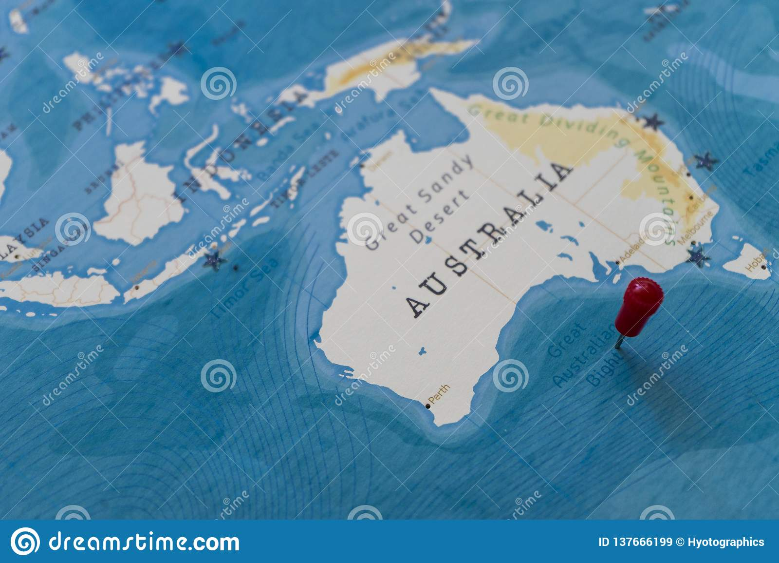 Australia Map Great Australian Bight.A Pin On Great Australian Bight In The World Map Stock Image