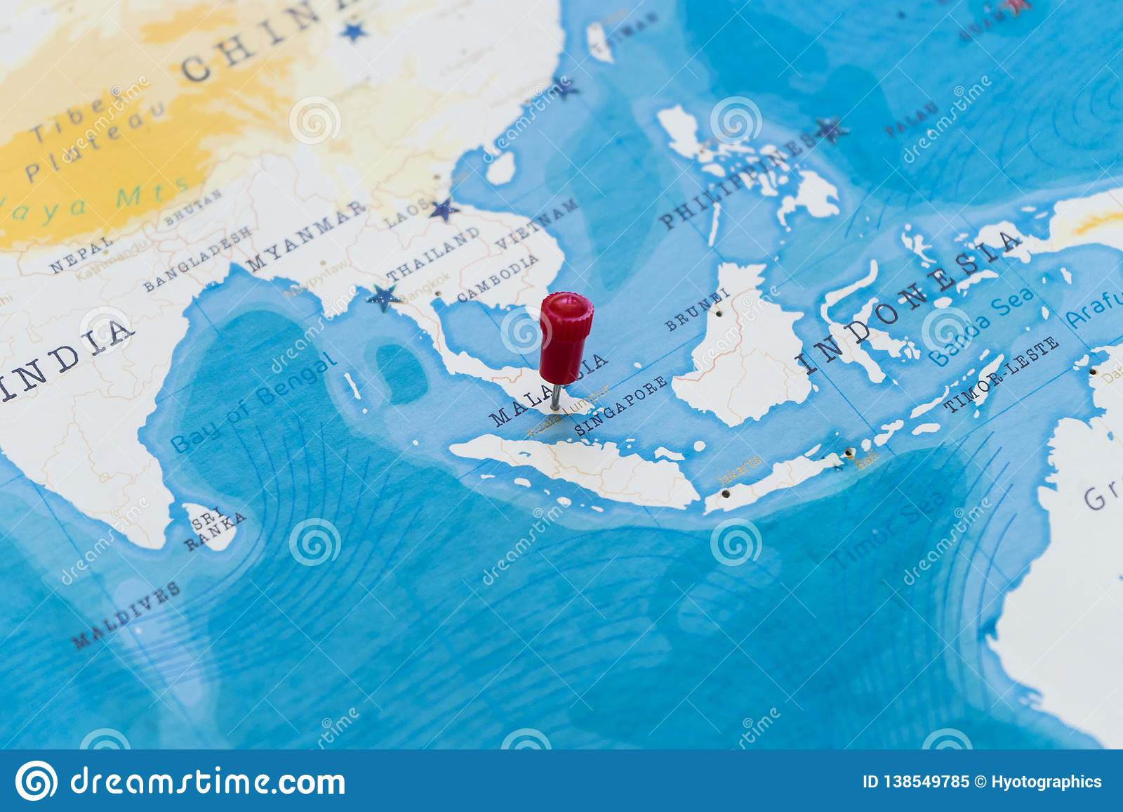 A Pin On Kuala Lumpur, Malaysia In The World Map Stock Image - Image Kuala Lumpur In World Map on world map colombo, world map malacca, world map manila, world map brussels, world map penang, world map singapore, world map bangkok, world map jakarta, world map bangalore, world map malaysia, world map mumbai,
