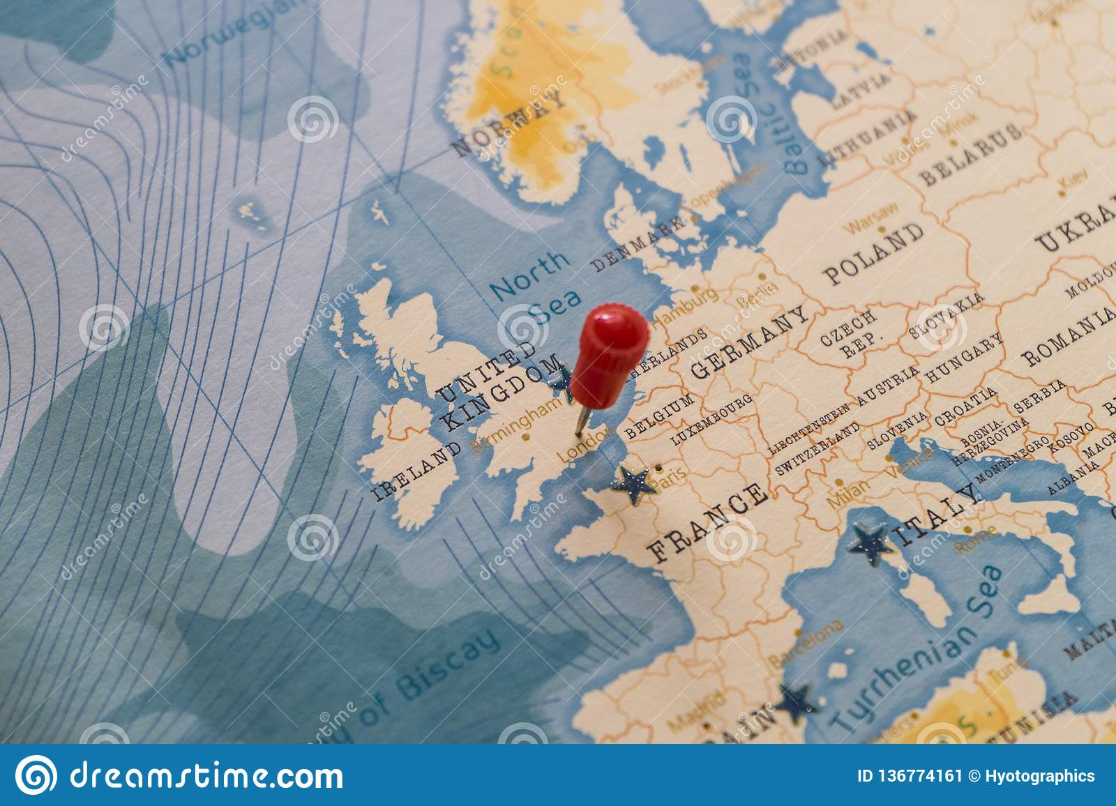 A Pin On London, England In The World Map Stock Image ...