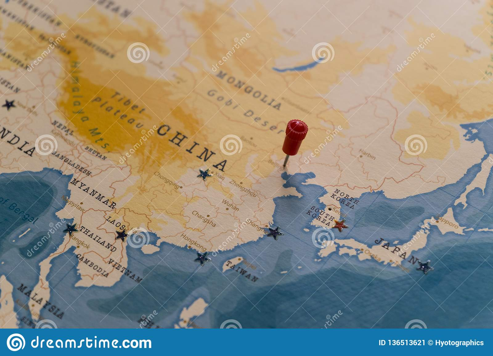 Picture of: A Pin On Beijing China In The World Map Stock Image Image Of Government Geography 136513621