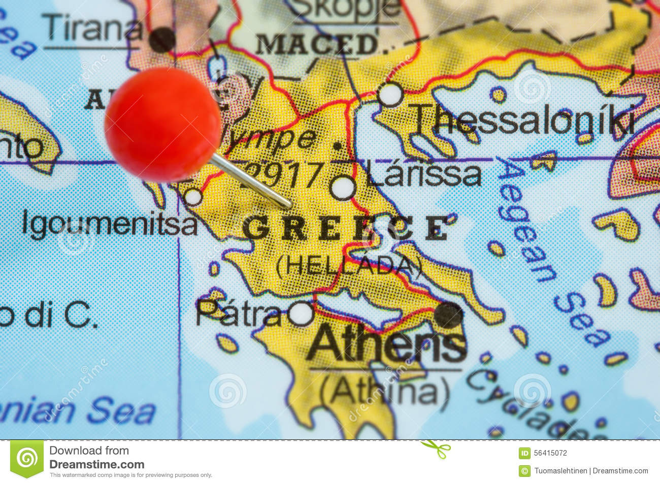 Pin Location Map Free Vector Graphic On Pixabay: Pin On A Map Of Greece Stock Photo
