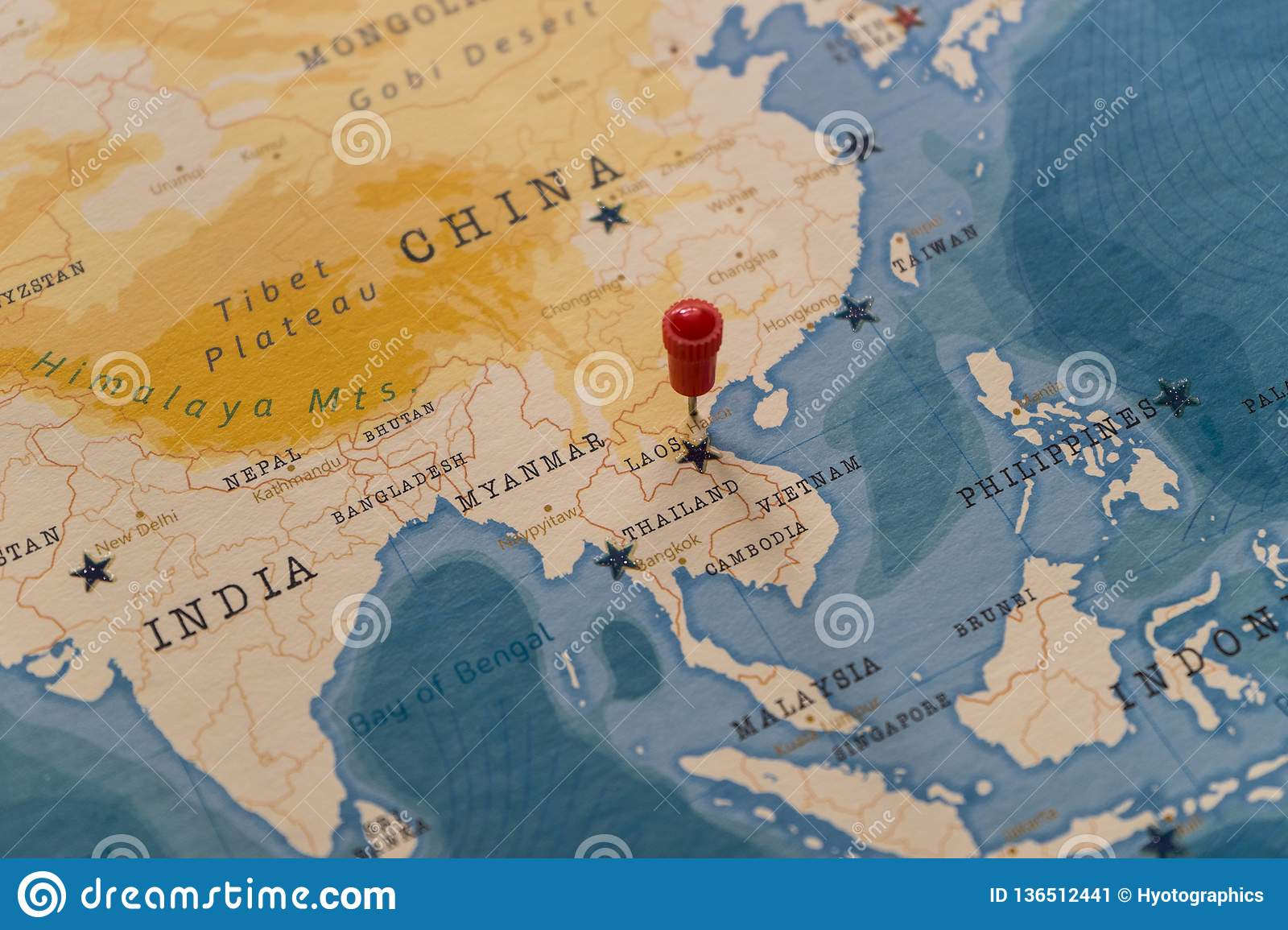 A Pin On Hanoi Vietnam In The World Map Stock Image Image Of Educational Nations 136512441