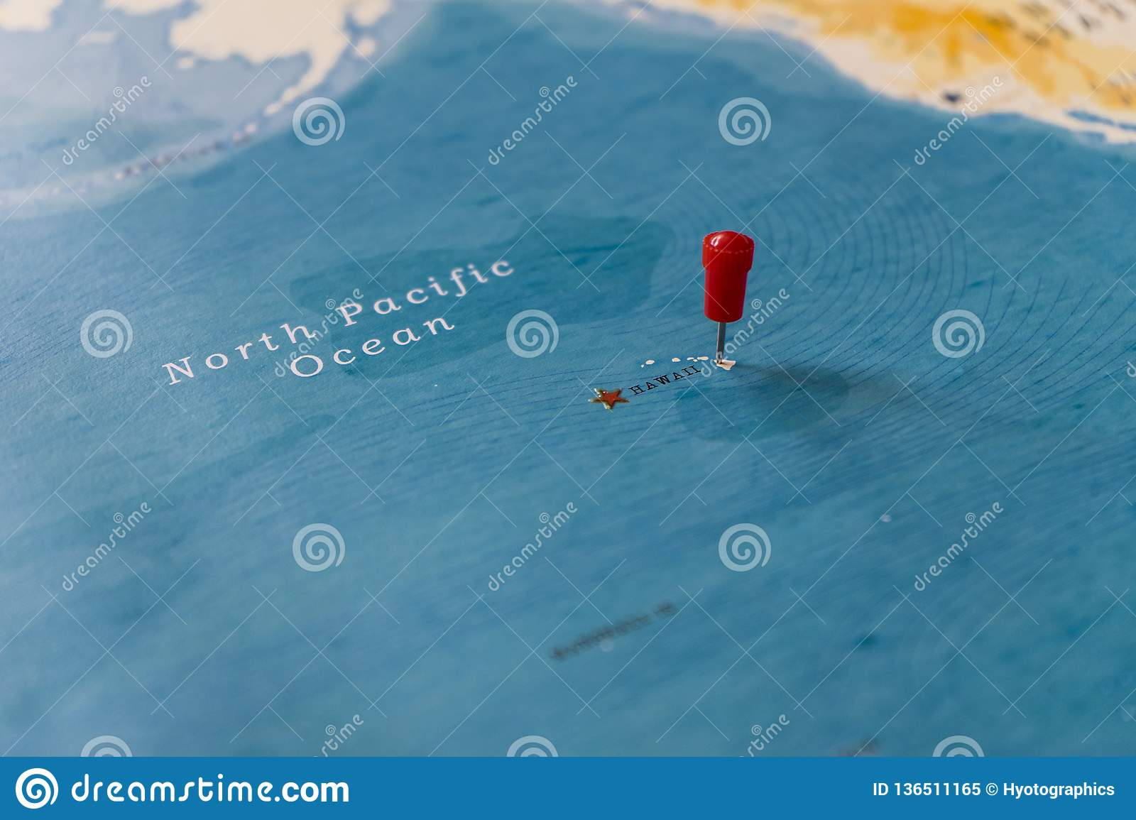 A Pin On Hawaii In The World Map Stock Image Image Of Continent