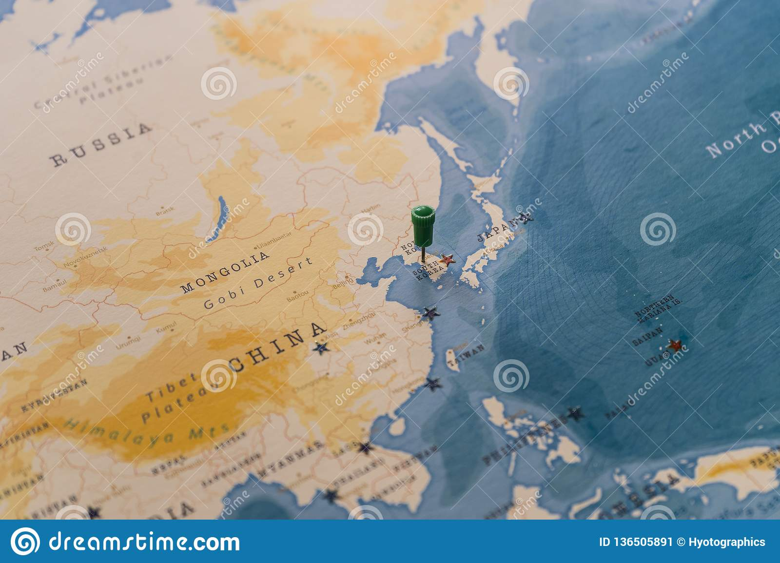 Image of: A Pin On Seoul South Korea In The World Map Stock Image Image Of Geography Globe 136505891