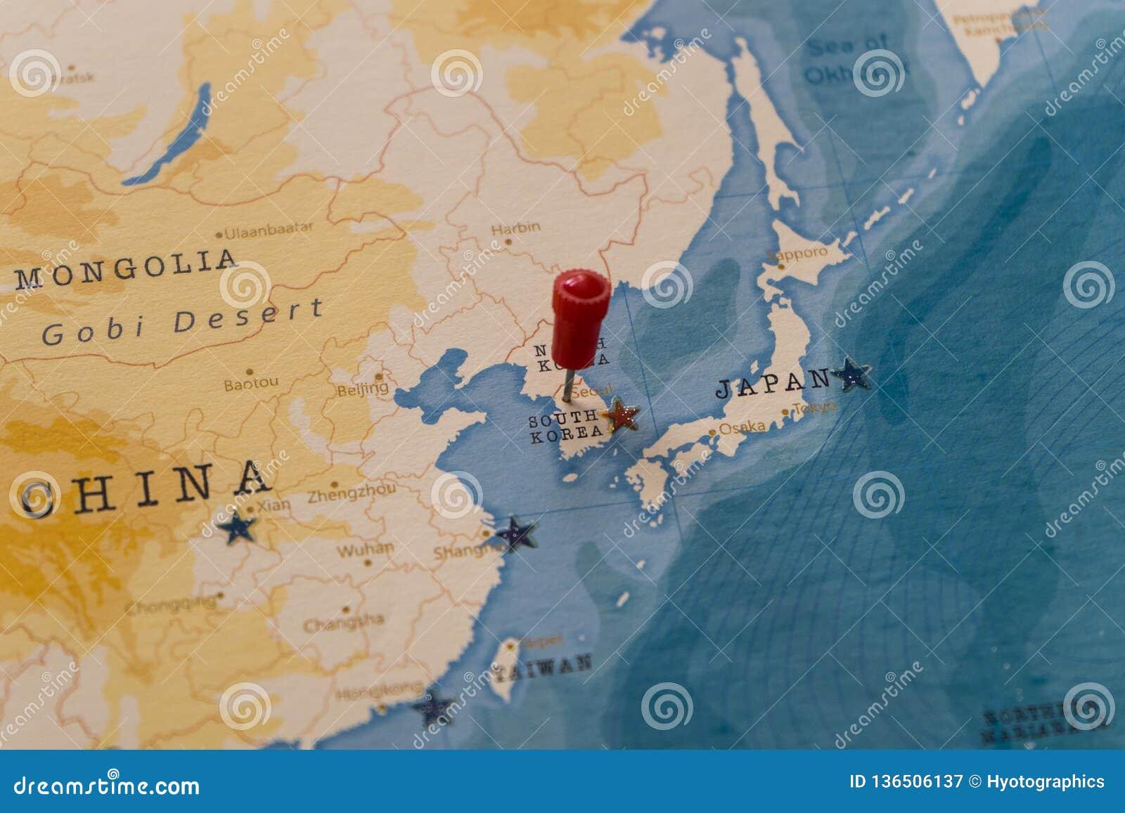 A Pin On Seoul, South Korea In The World Map Stock Image - Image of Korea World Map on daum korea, nerium korea, world flag korea, incheon korea, army posts in korea, us bases korea, location of korea, world hotel korea, mers korea, old korea, in which continent is korea, south korea, mark lippert korea, ocean world korea, bambino korea, itaewon korea, north korea,