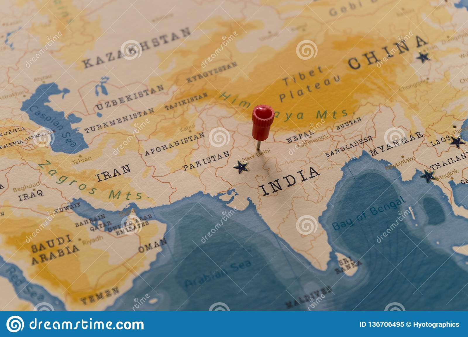 A Pin On New Delhi India In The World Map Stock Image Image Of