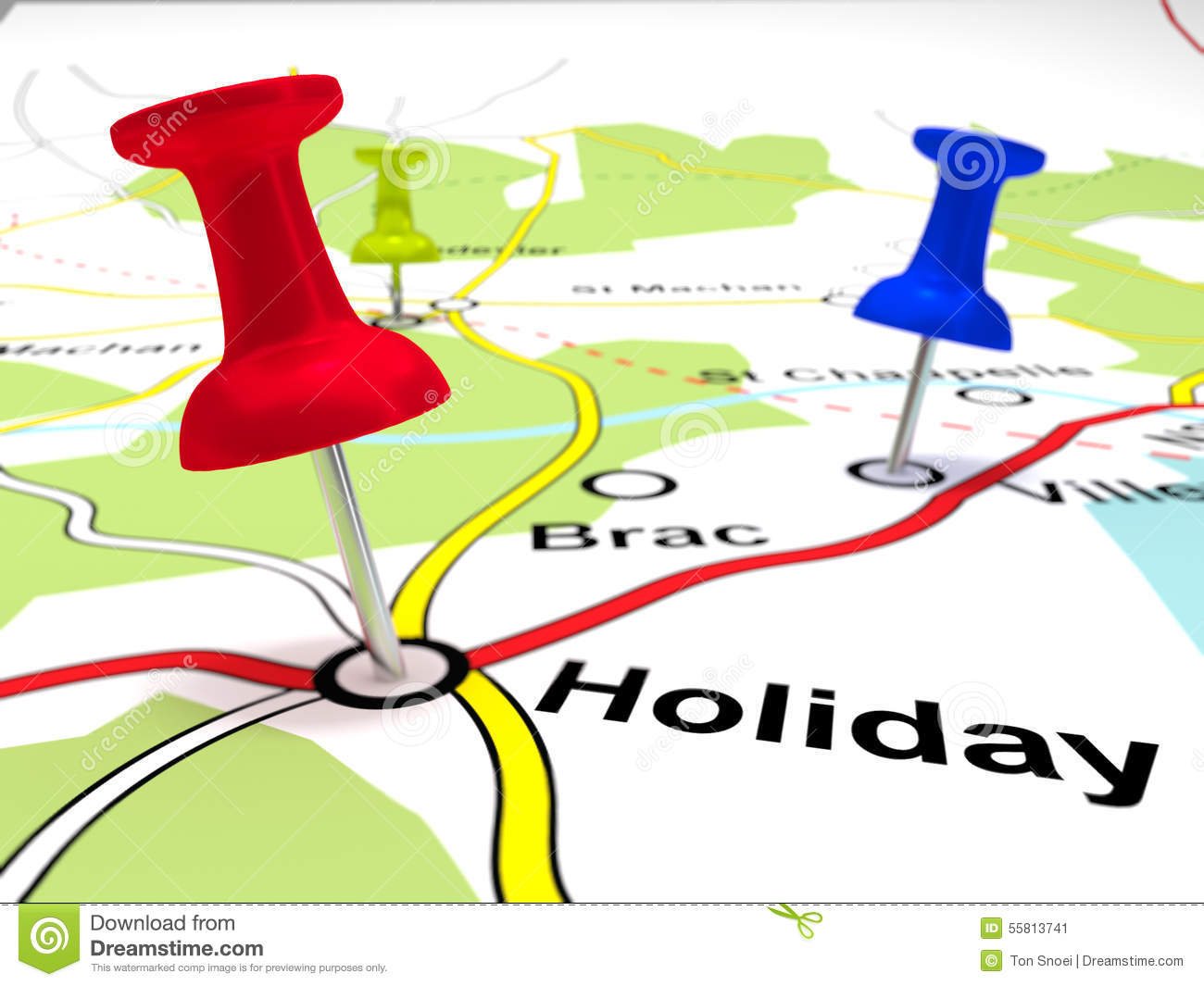 pin points on a map stock photo 55813741 megapixl