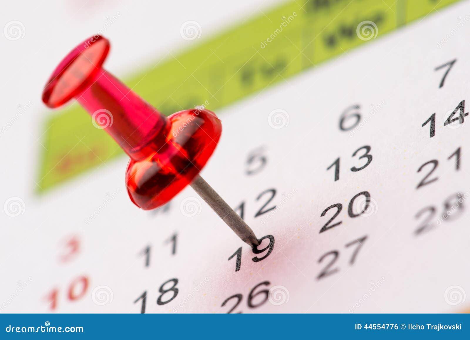 Pin sul calendario