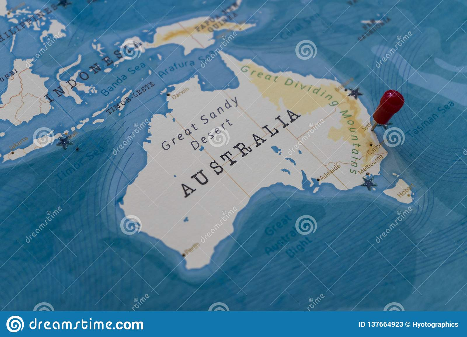 Sydney Australia World Map.A Pin On Sydney Australia In The World Map Stock Image Image Of