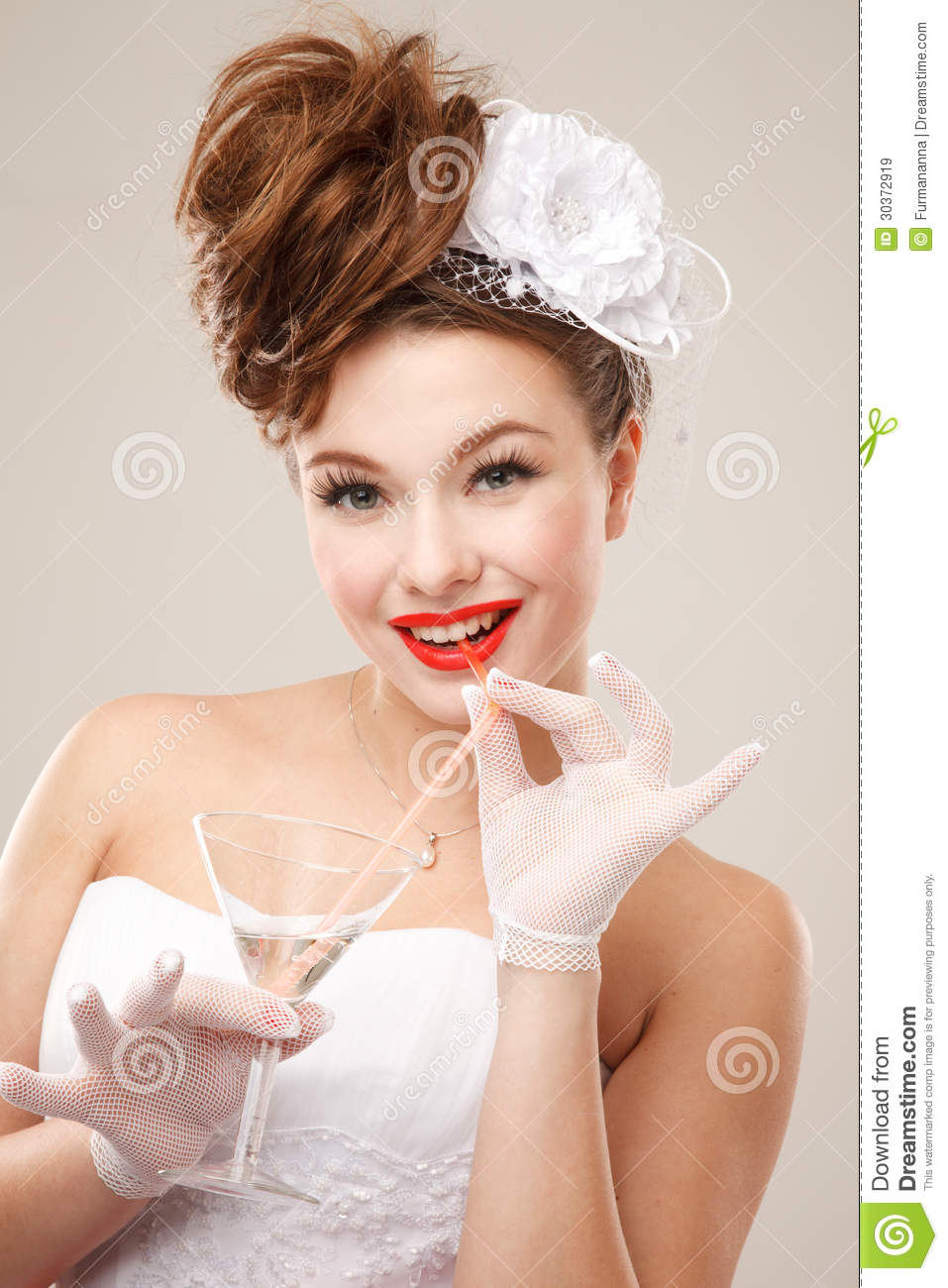 Pin Up Bride Stock Image Image Of Bride Happiness Fashion 30372919